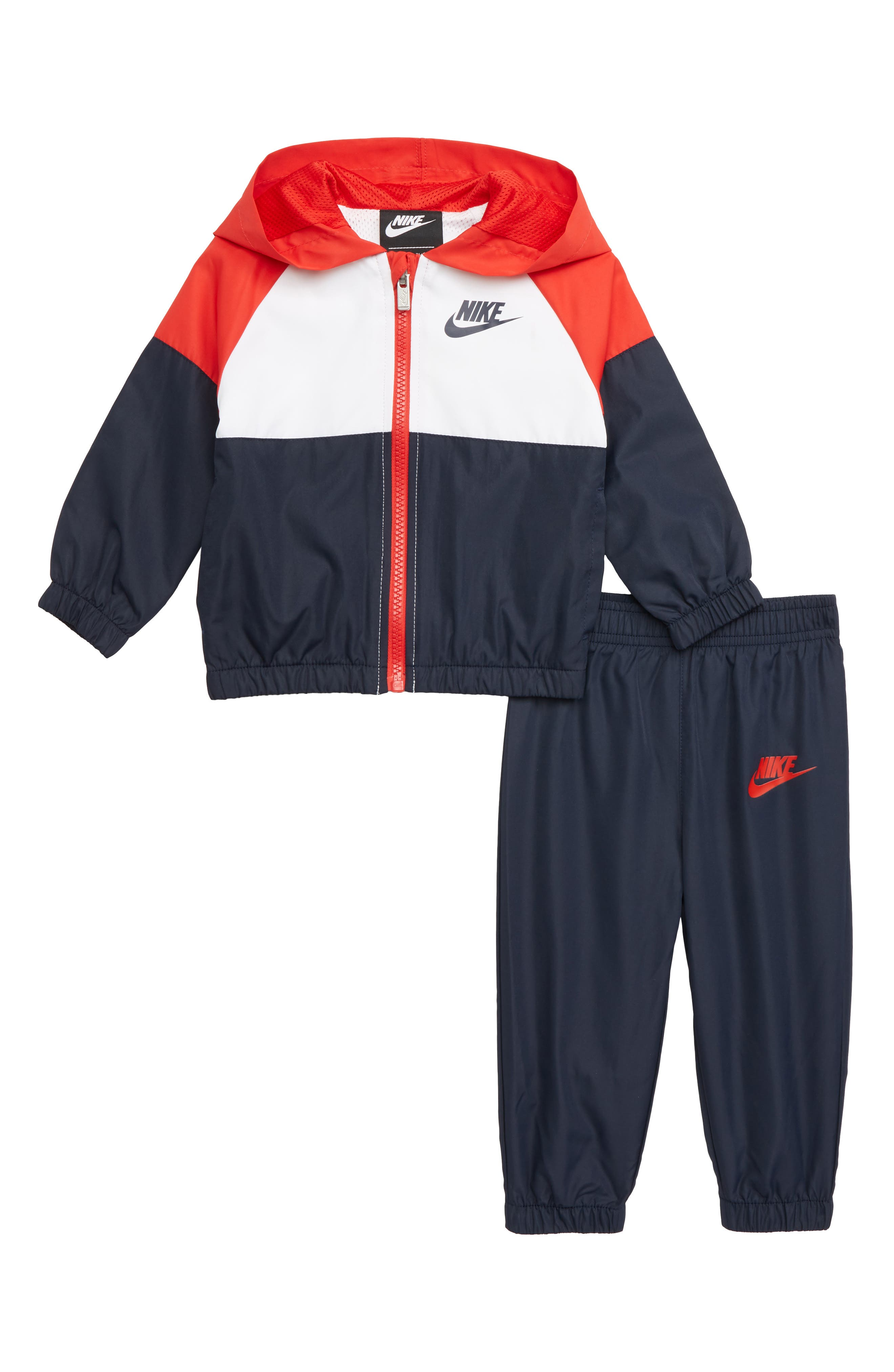 Infant Boys Nike Hooded Jacket  Track Pants Set