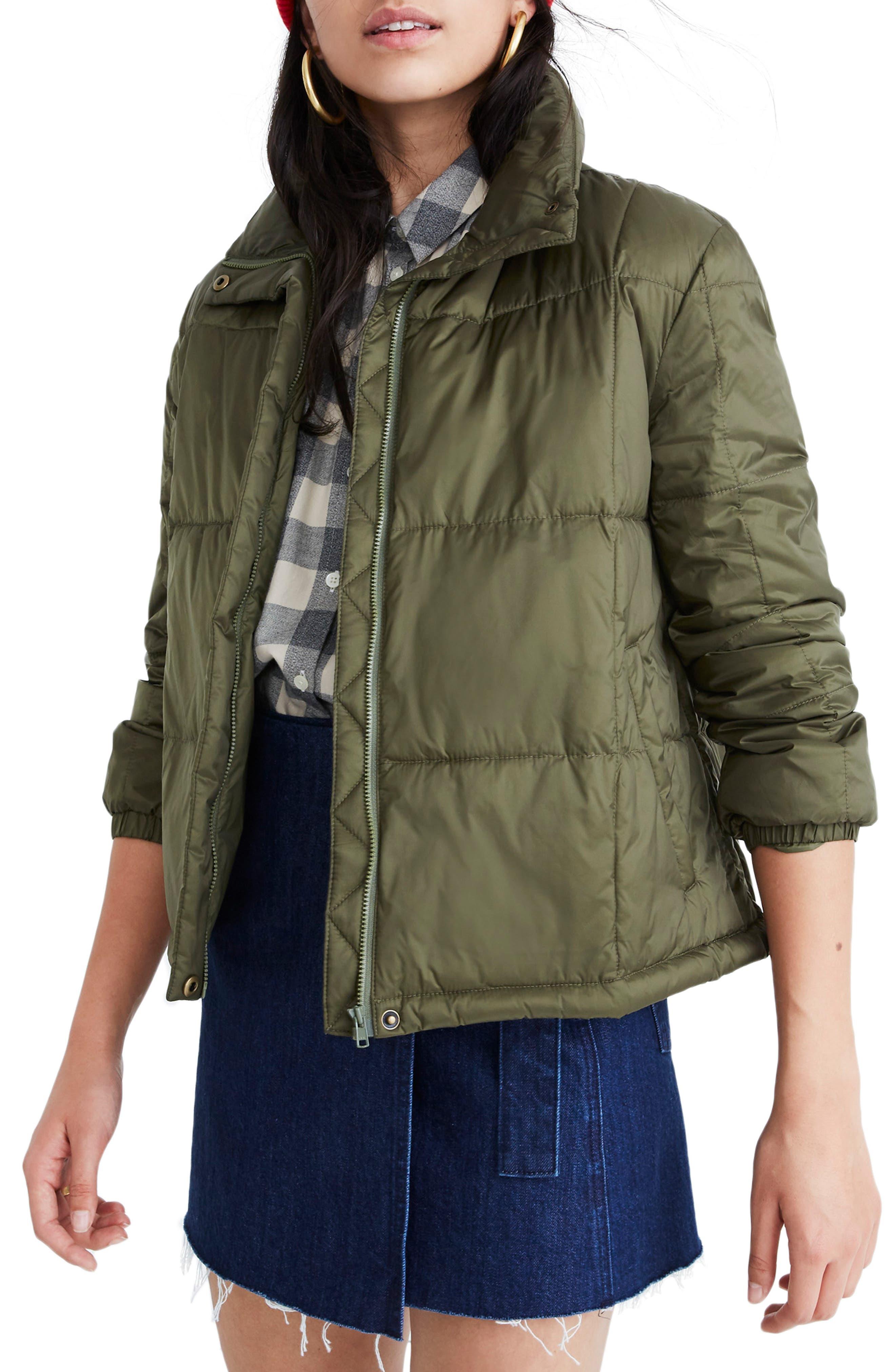 Madewell Travel Buddy Packable Puffer Jacket, Green