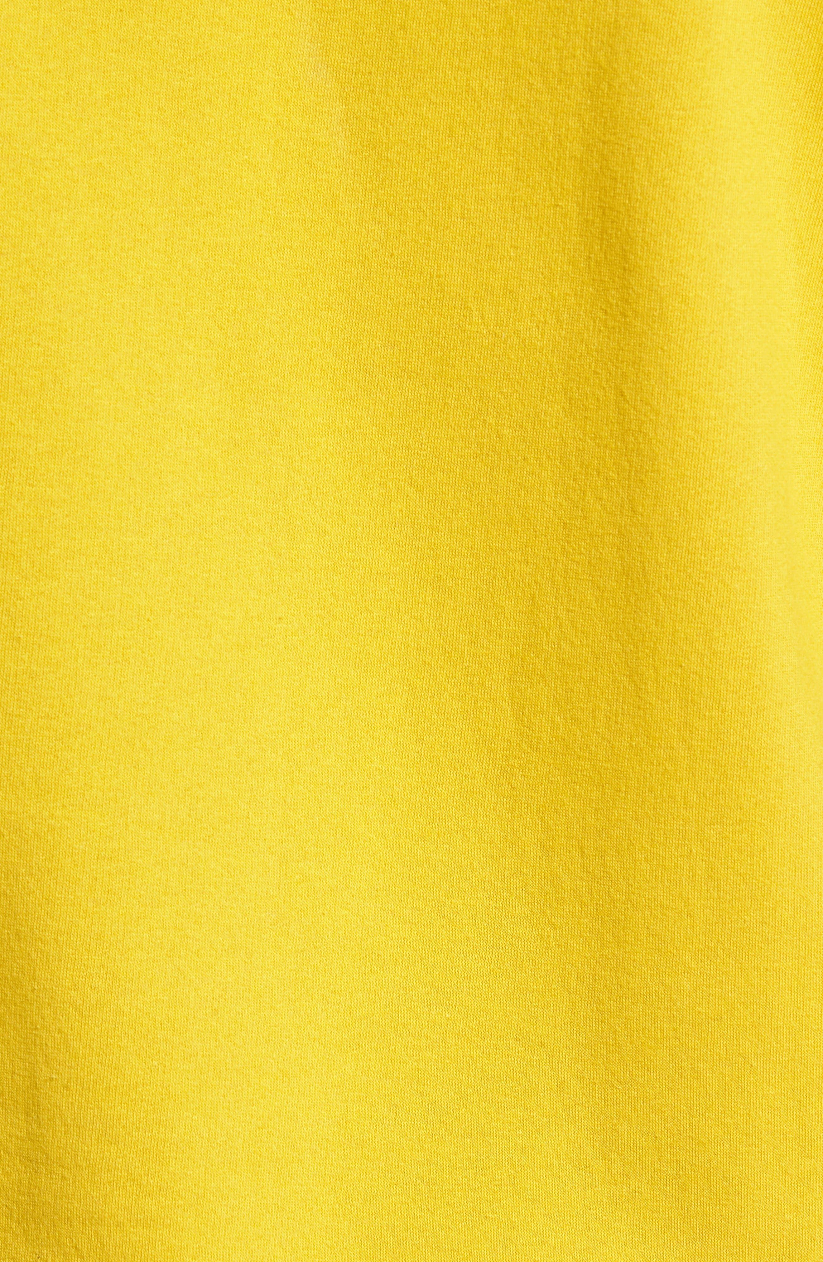 Bridges Logo Tape Quarter Zip Pullover,                             Alternate thumbnail 5, color,                             GOLDEN OLIVE