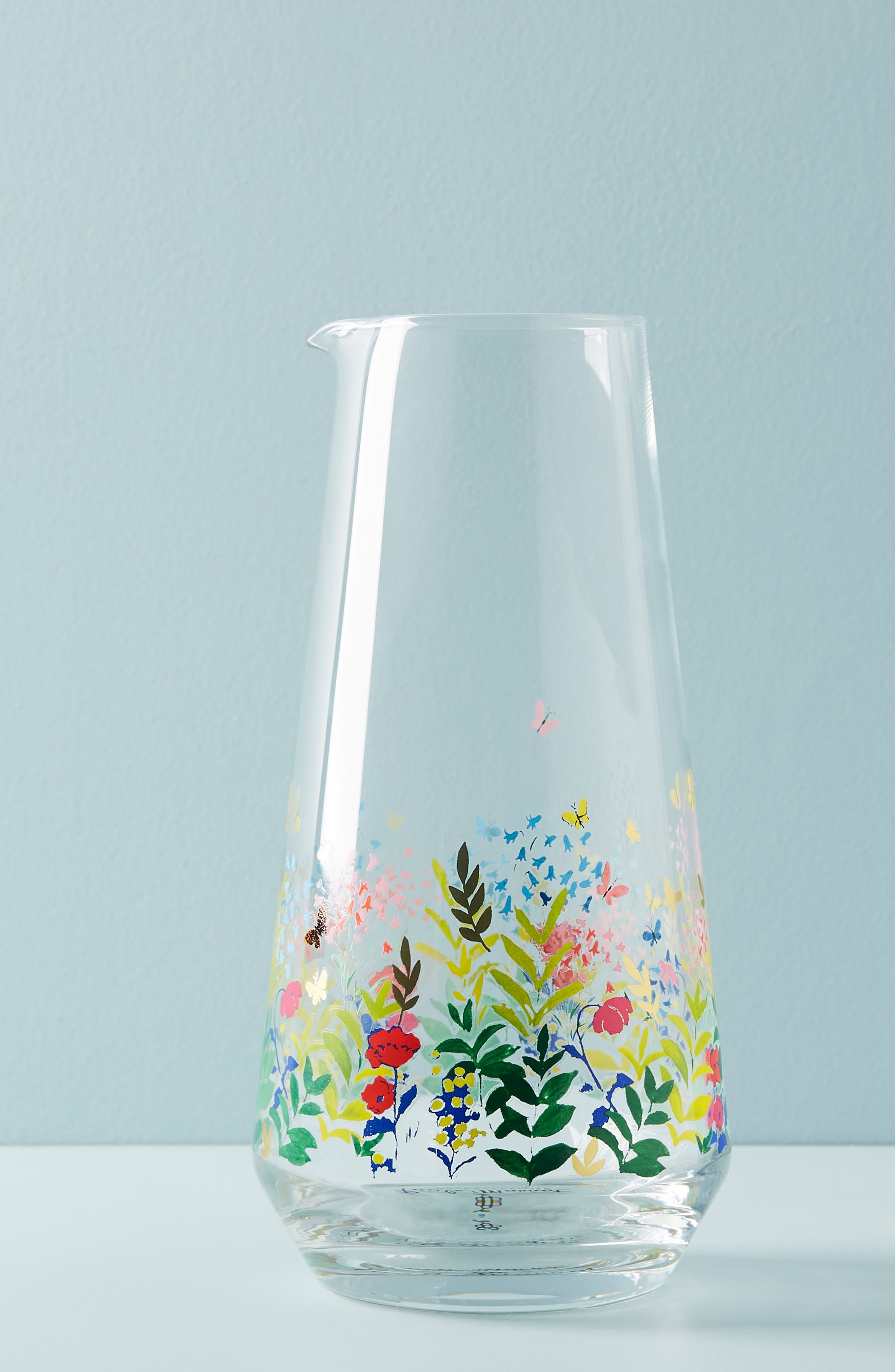 ANTHROPOLOGIE Paule Marrot Garden Carafe, Main, color, CLEAR