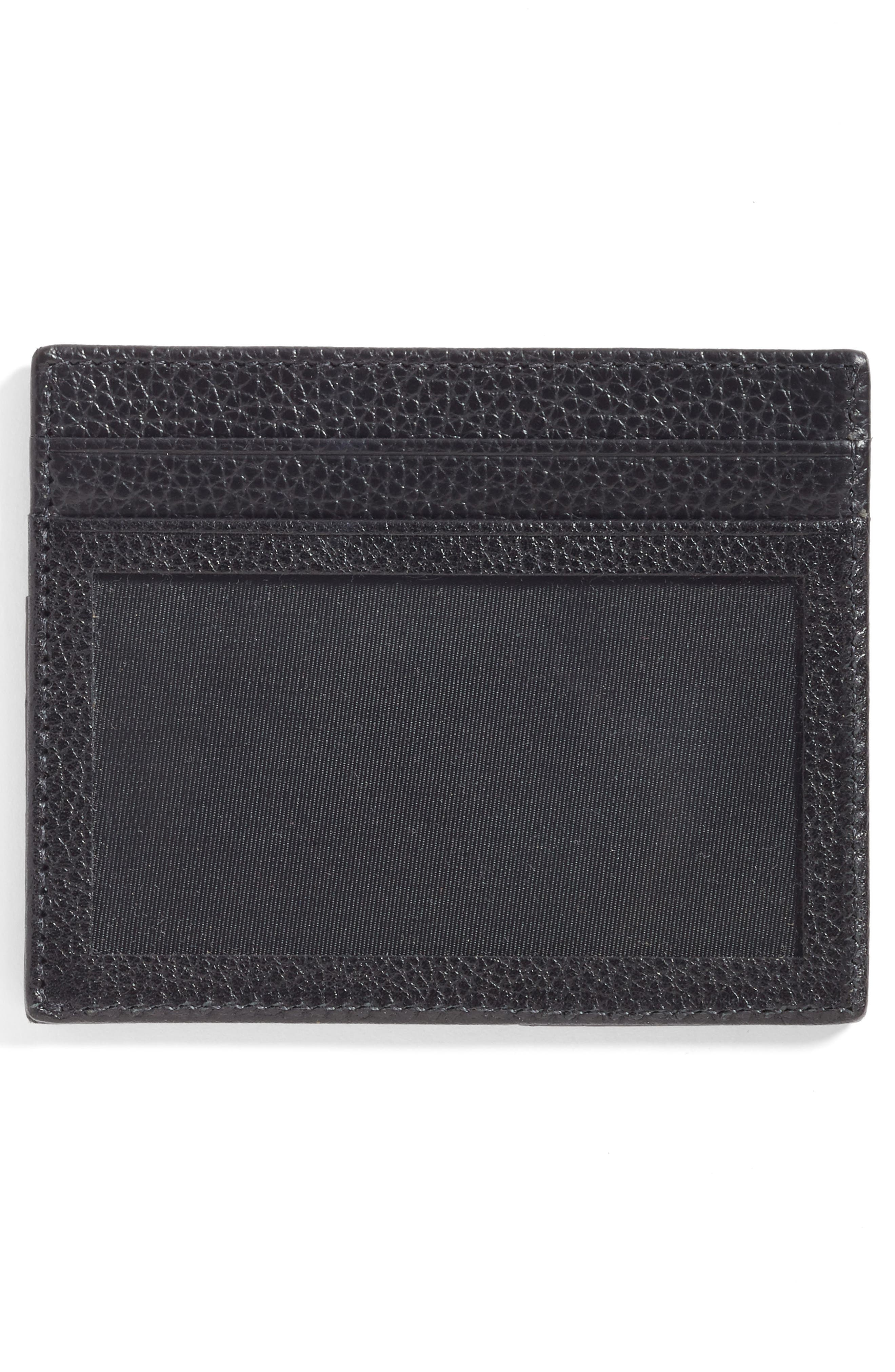 Executive Leather Card Case,                             Alternate thumbnail 2, color,                             001