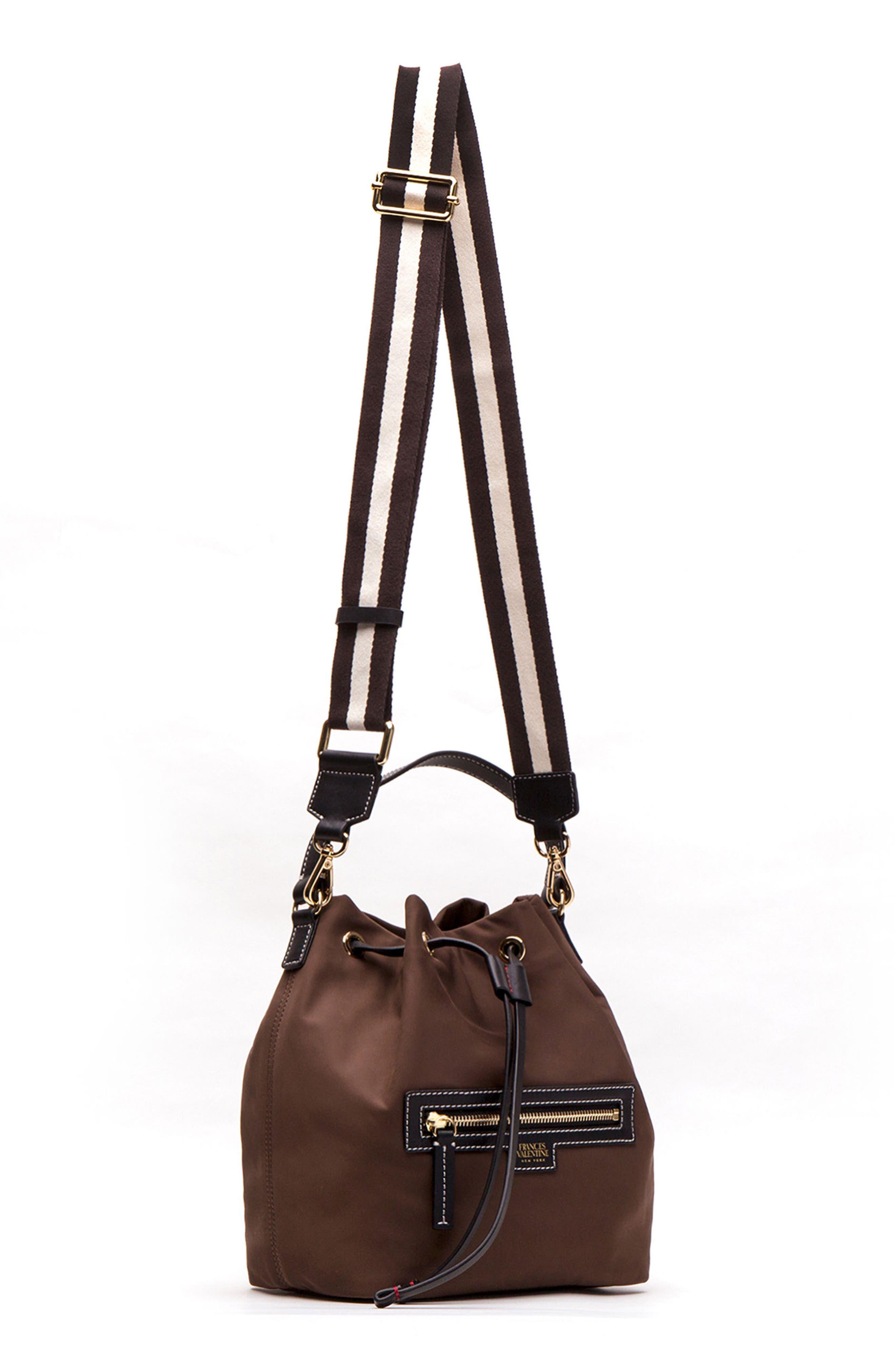 Medium Ann Nylon Bucket Bag,                             Alternate thumbnail 14, color,