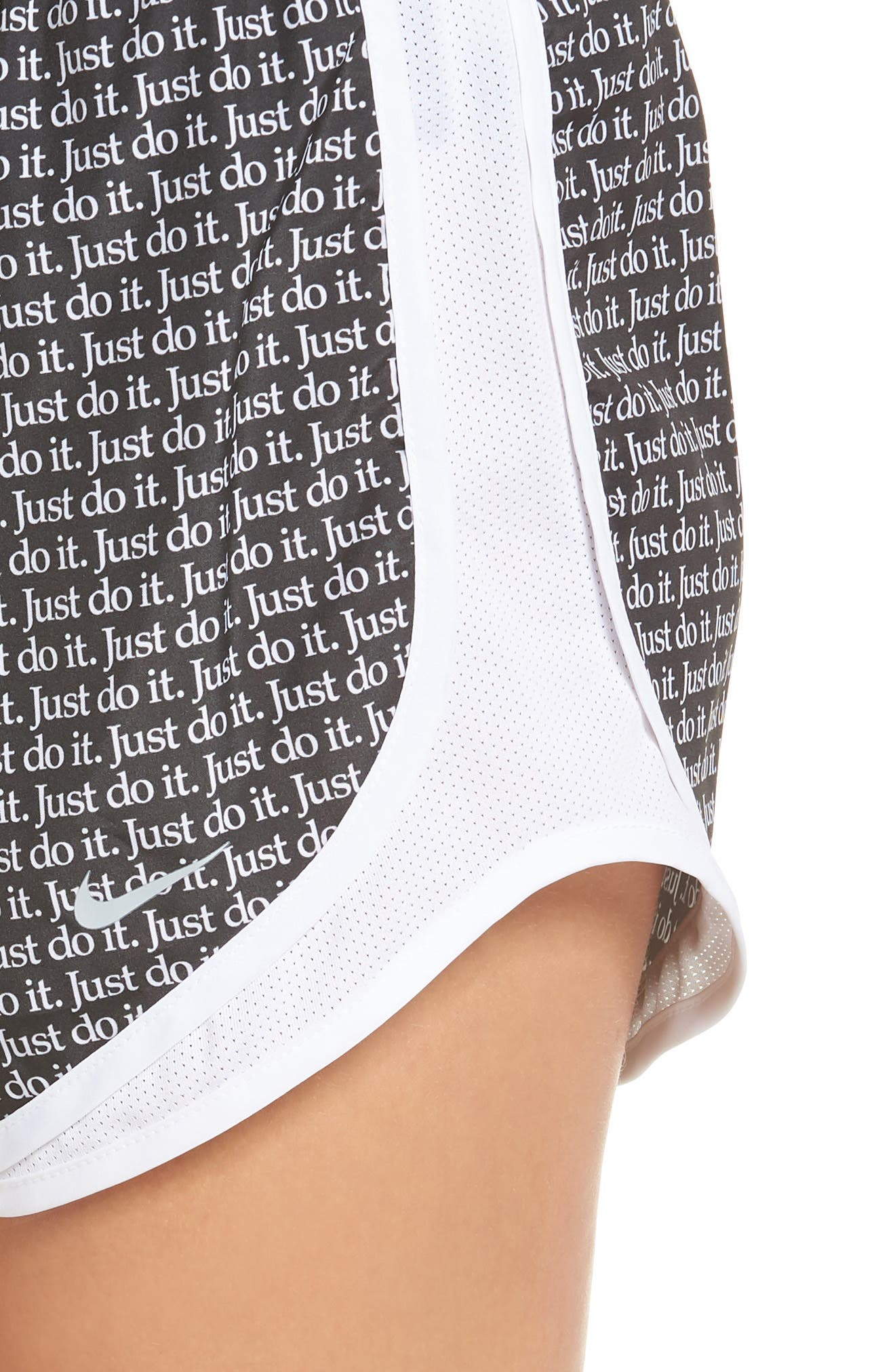 Dry Tempo Just Do It Running Shorts,                             Alternate thumbnail 4, color,                             BLACK/ WHITE/ WHITE/ WOLF GREY