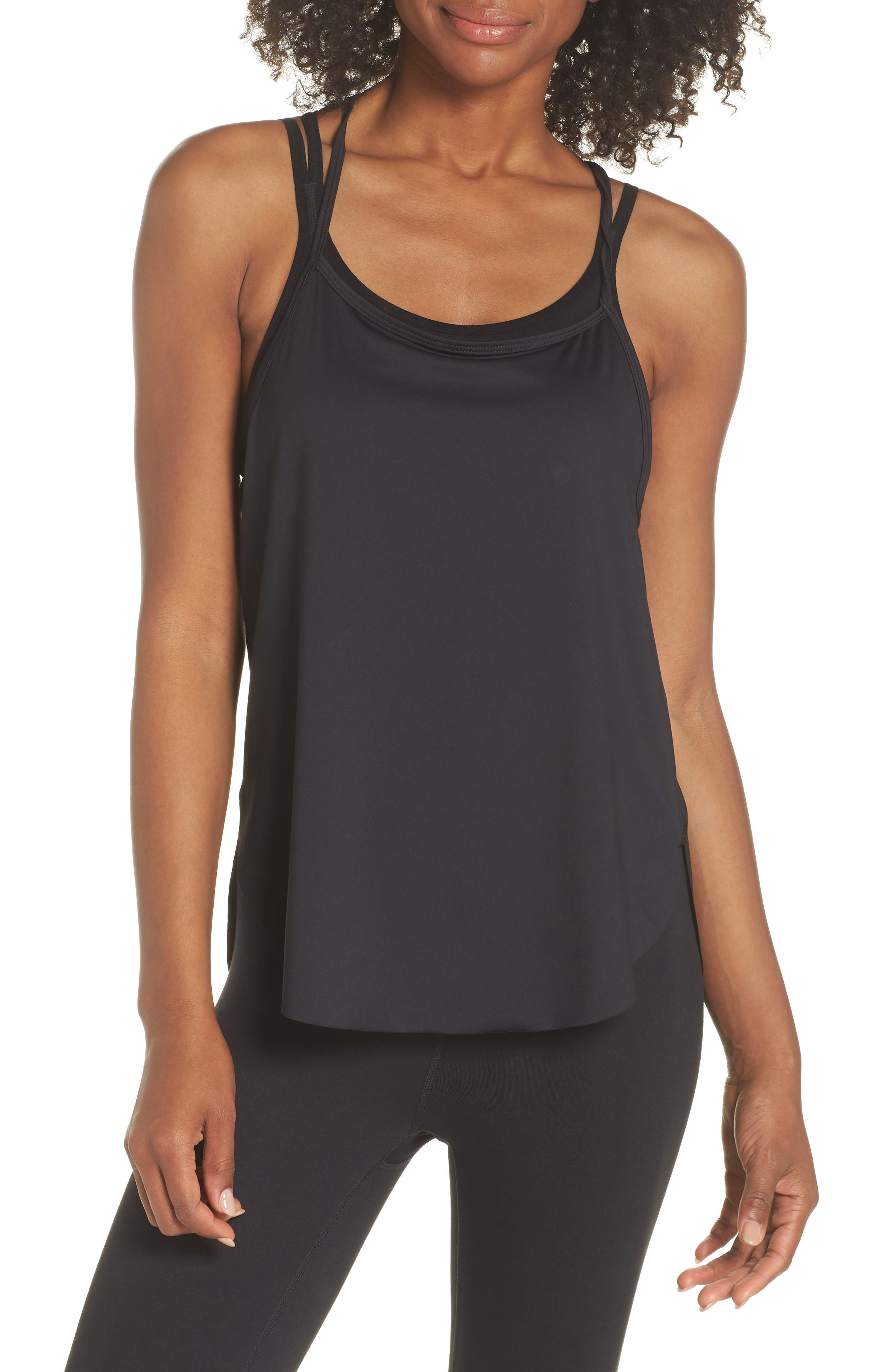 Fera Perforated Tank,                             Main thumbnail 1, color,                             001