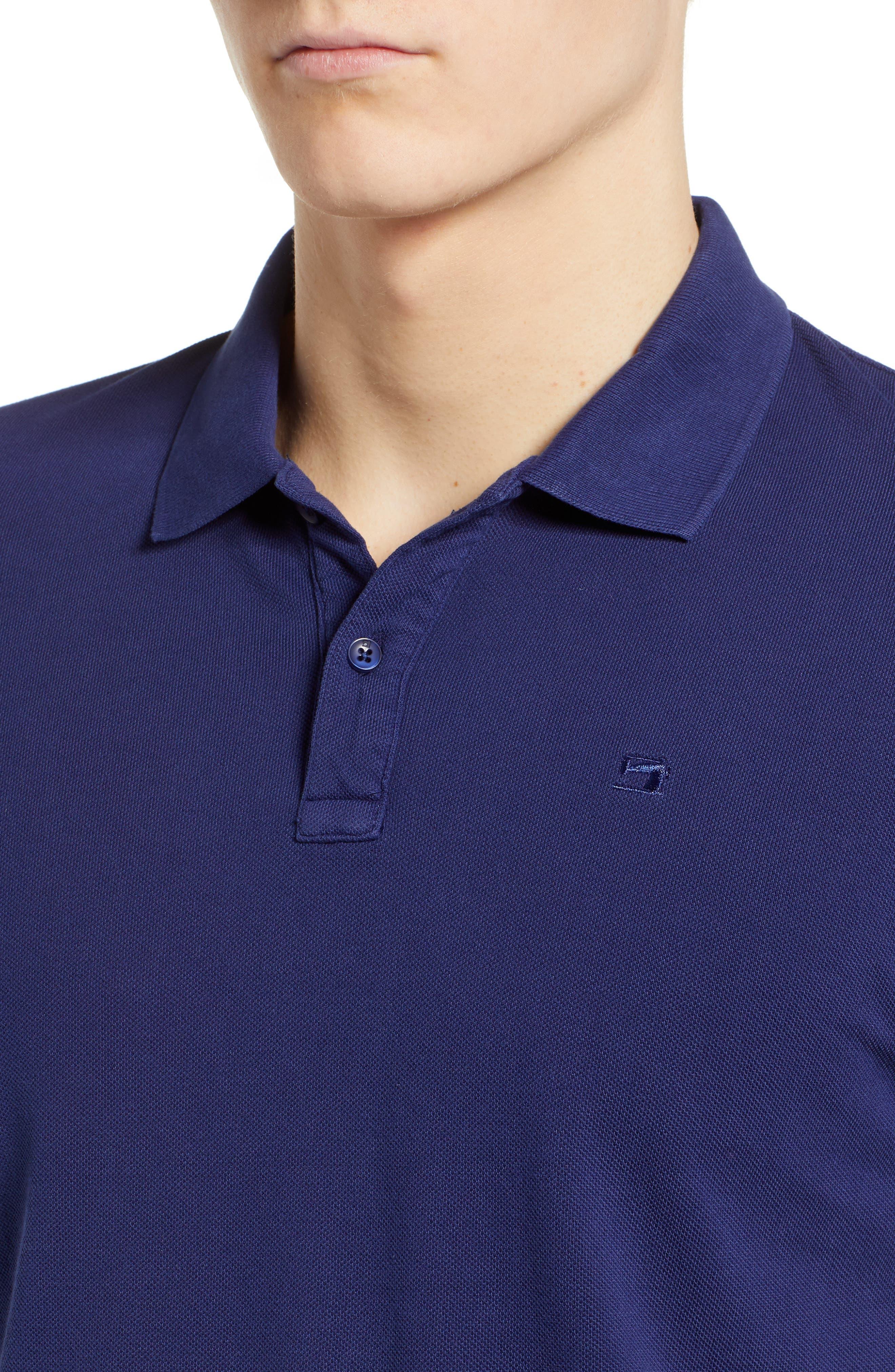 Garment Dyed Piqué Polo,                             Alternate thumbnail 4, color,                             410
