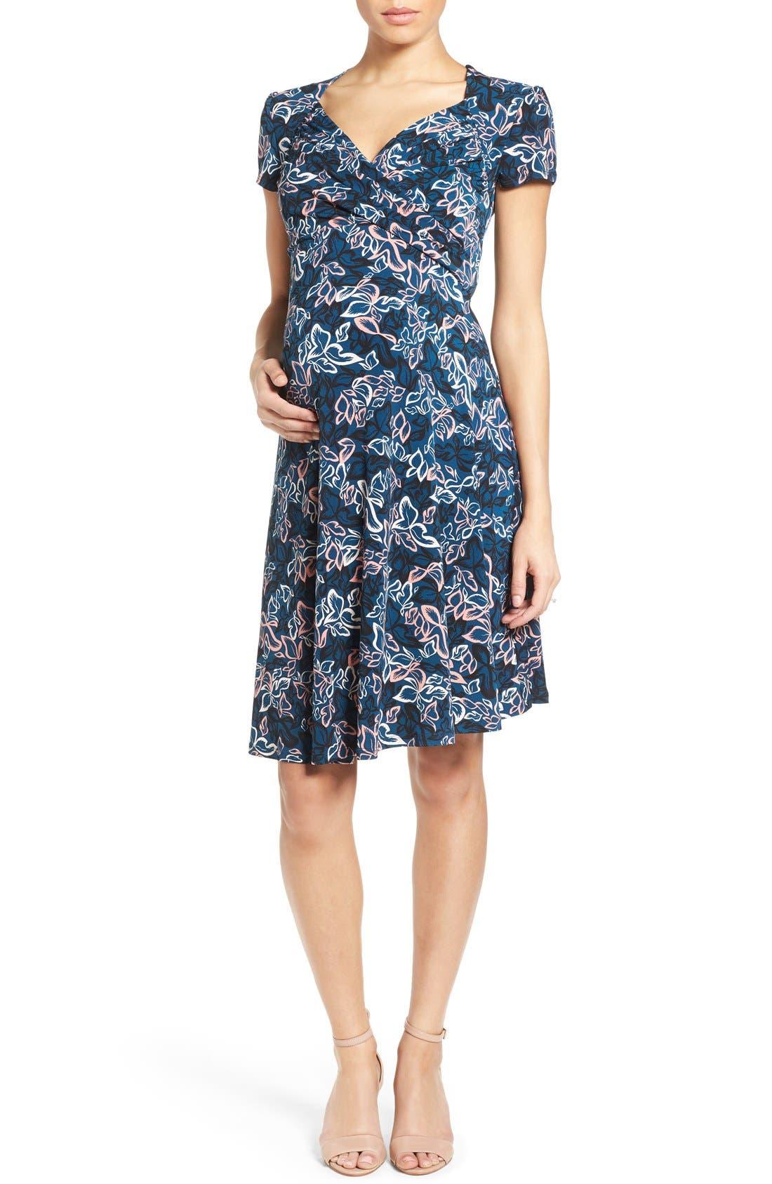 'Sweetheart' Maternity Dress,                         Main,                         color, 405