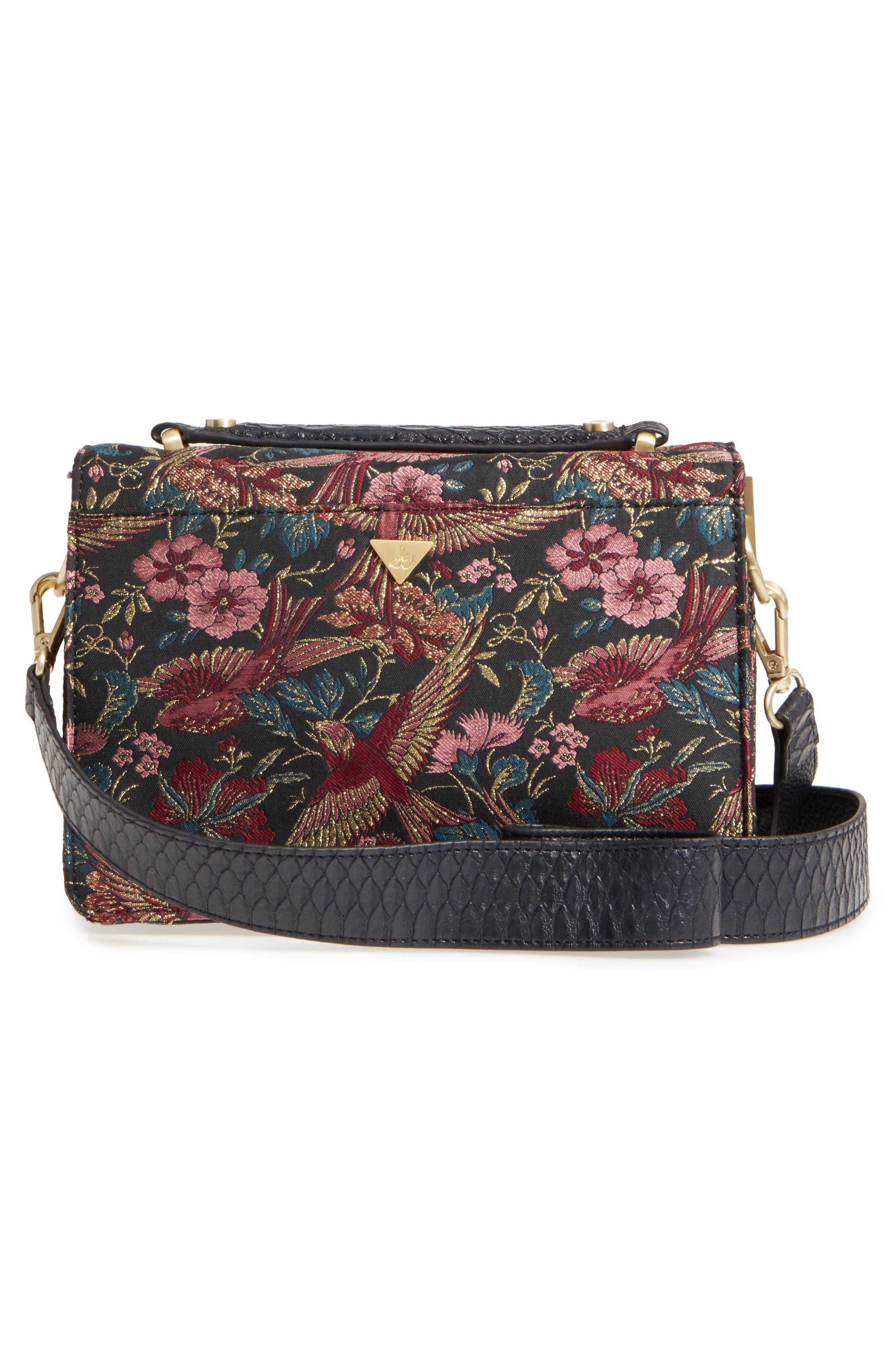 Gessica Jacquard Shoulder Bag,                             Alternate thumbnail 3, color,                             001