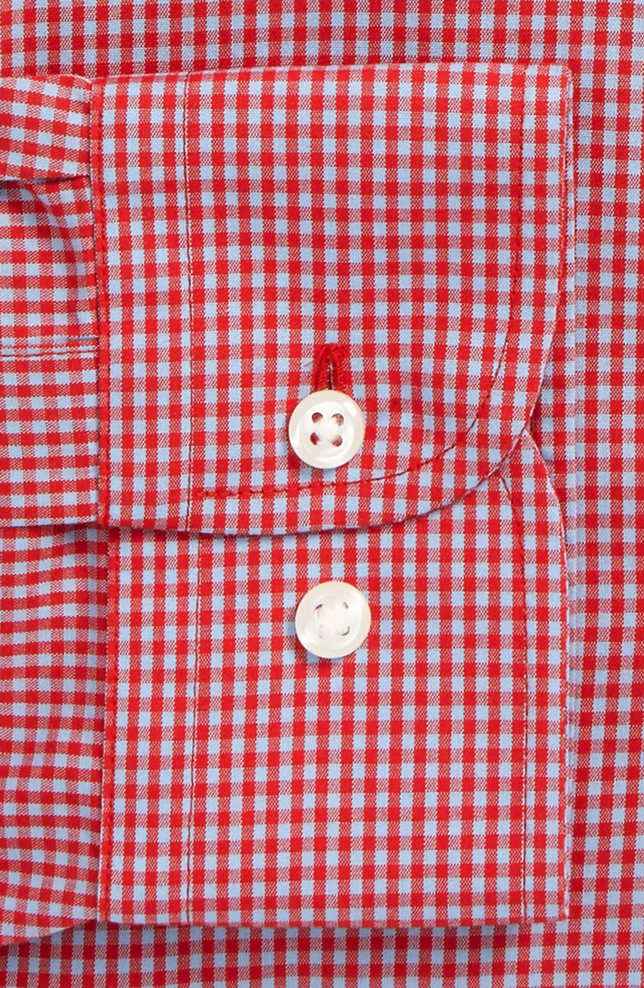 Smartcare<sup>™</sup> Trim Fit Check Dress Shirt,                             Alternate thumbnail 24, color,