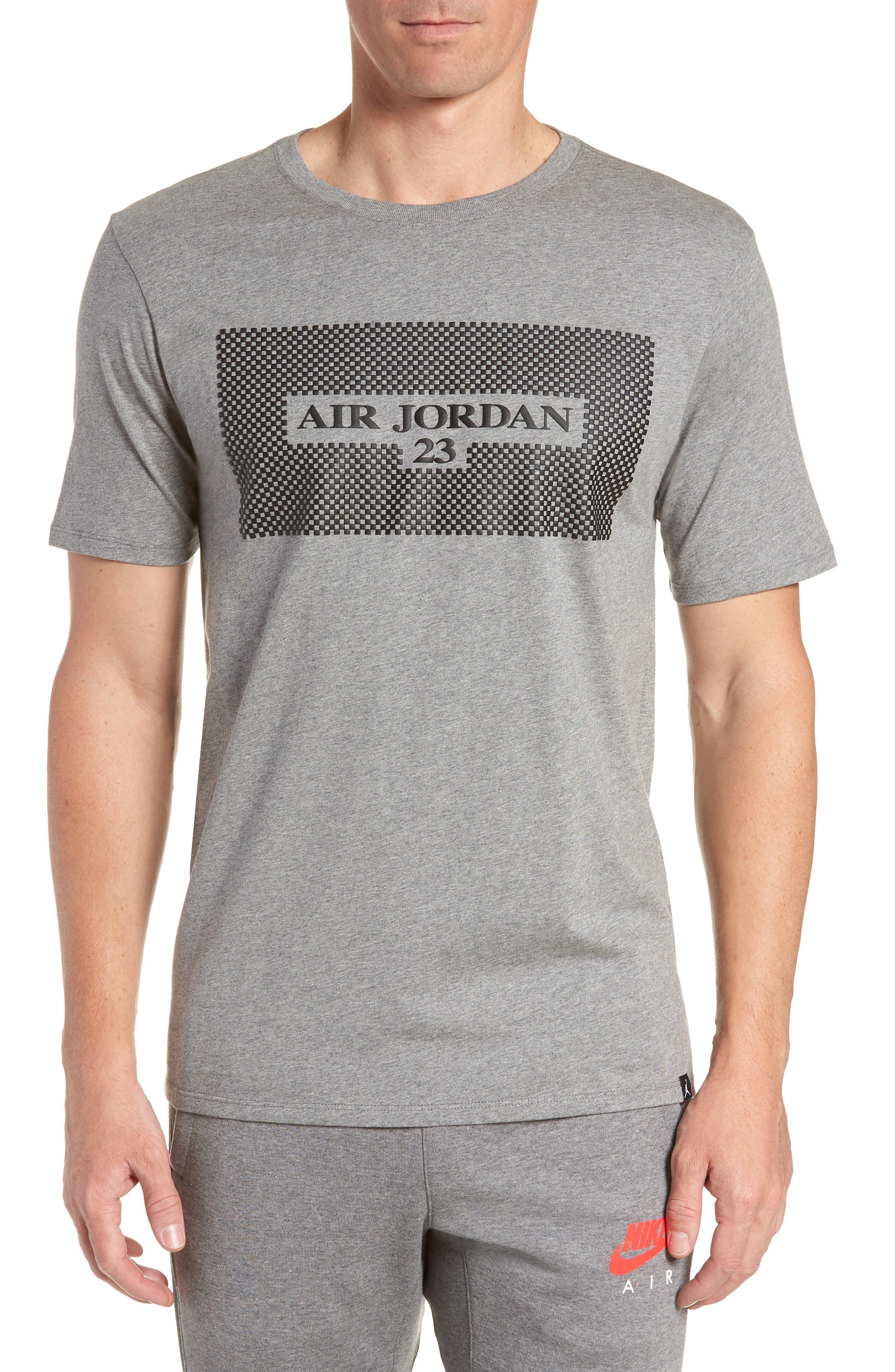 Air Jordan 23 T-Shirt,                             Main thumbnail 1, color,                             CARBON HEATHER/ BLACK
