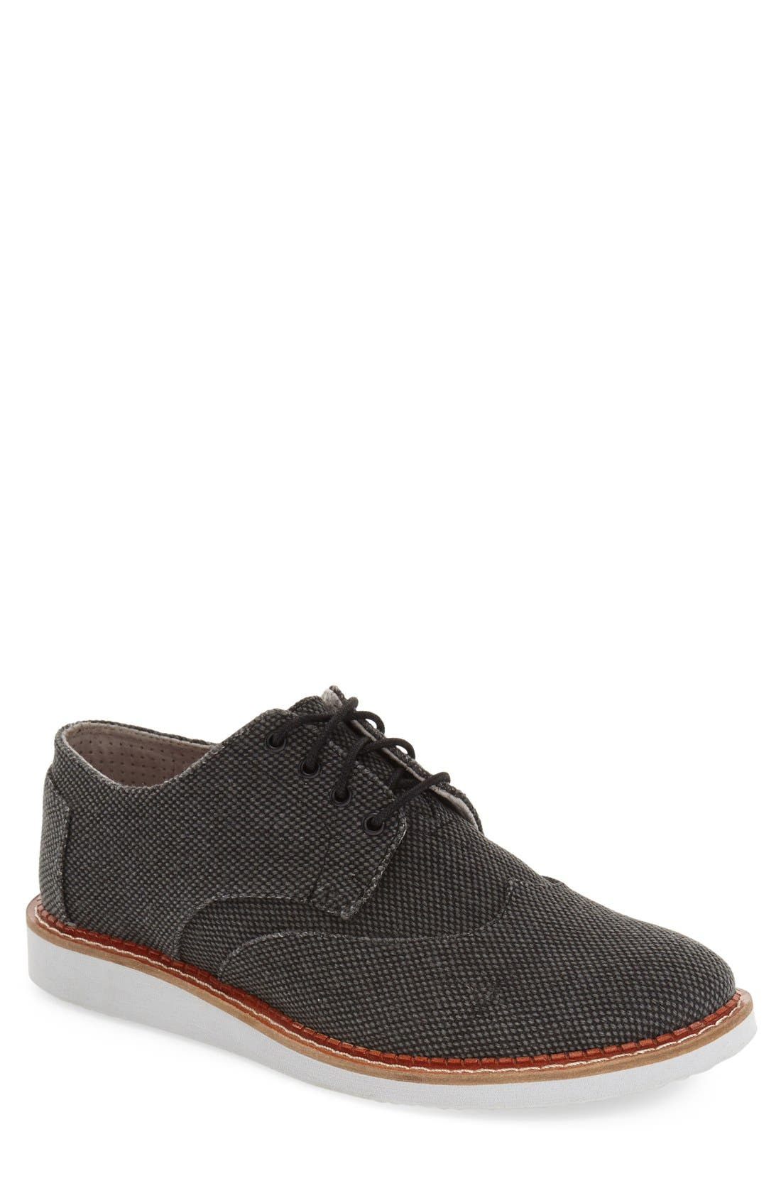 'Classic Brogue' Cotton Twill Derby,                             Main thumbnail 2, color,