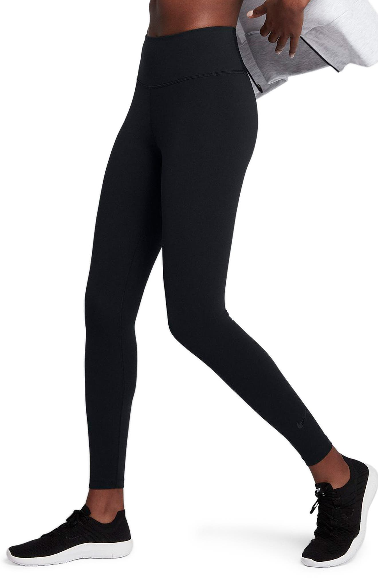 Sculpt Lux Training Tights,                             Alternate thumbnail 3, color,                             BLACK/ CLEAR