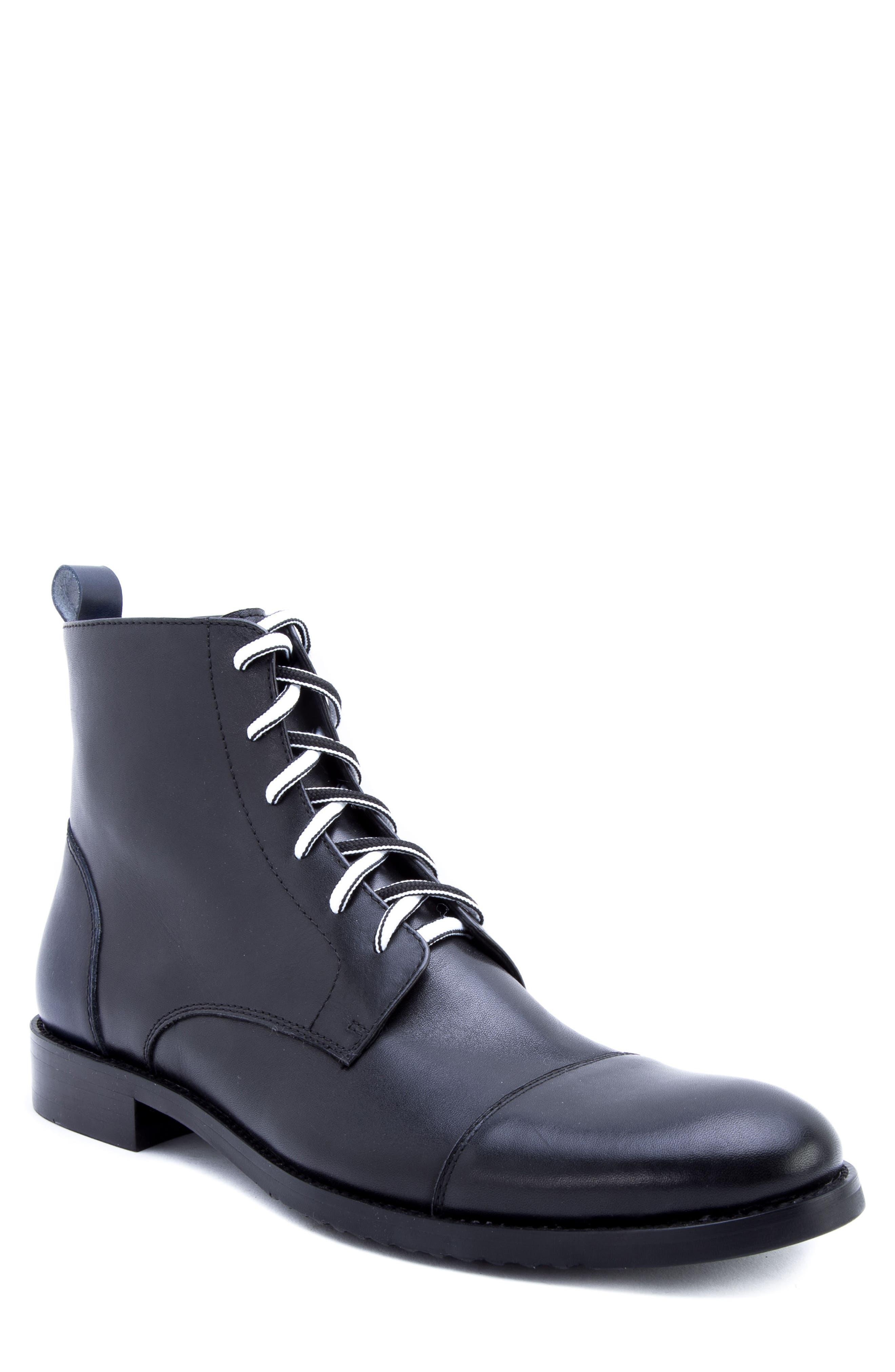 Lombardo Cap Toe Boot,                             Main thumbnail 1, color,                             001