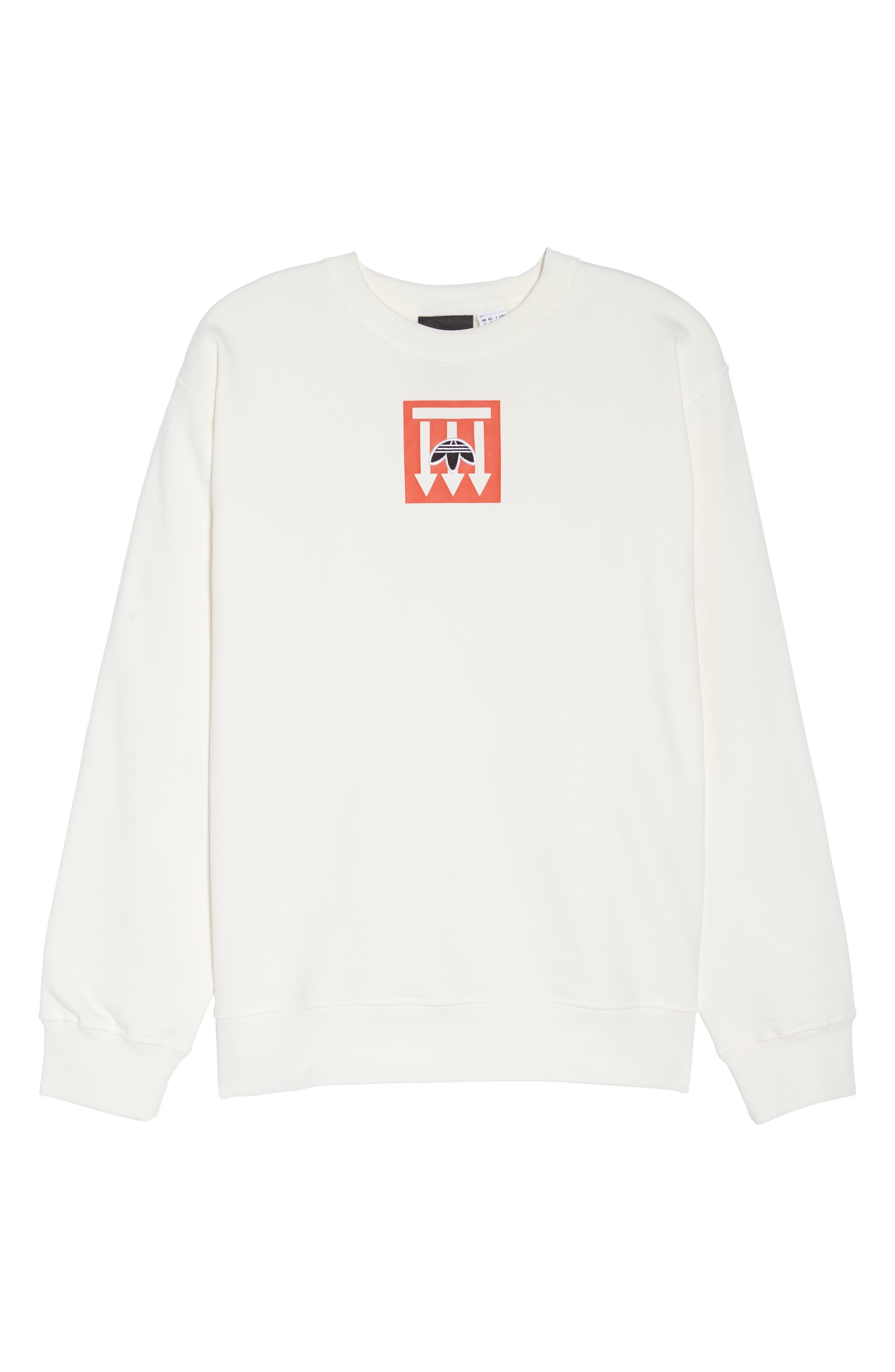 adidas x Alexander Wang Graphite Sweatshirt,                             Alternate thumbnail 7, color,                             900