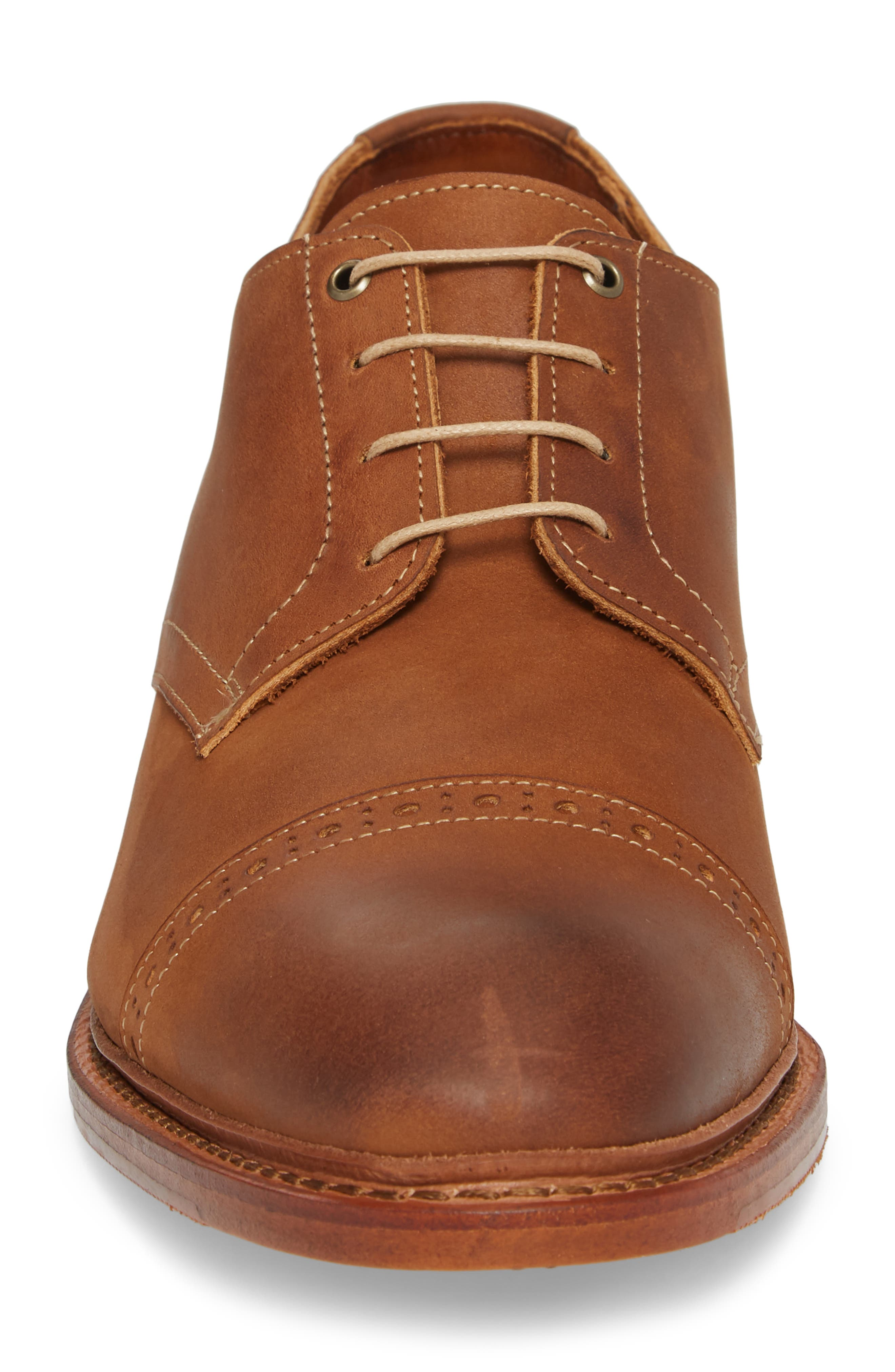 Kitsap Cap Toe Derby,                             Alternate thumbnail 4, color,                             TAN LEATHER