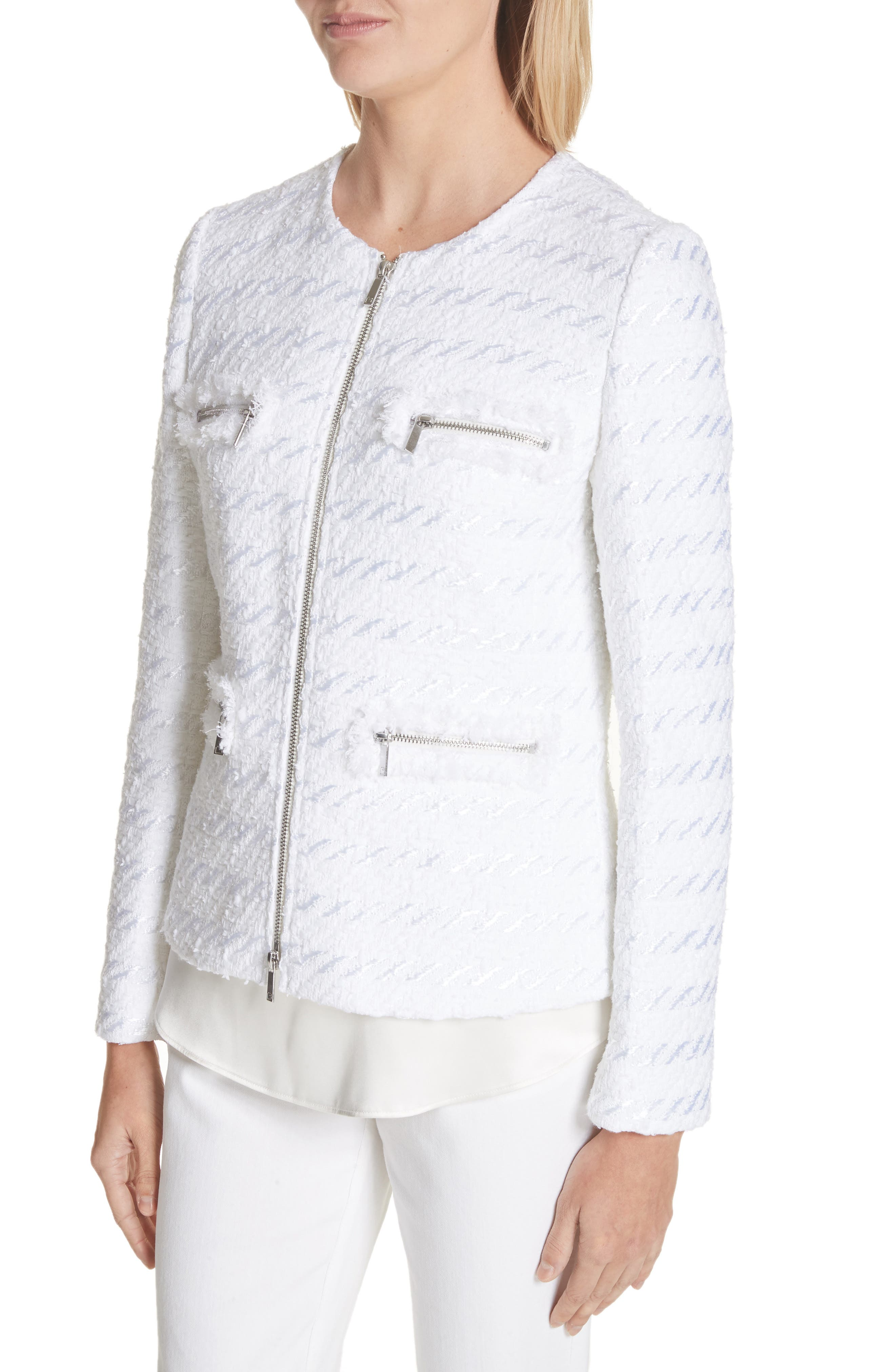 Emelyn Jacquard Jacket,                             Alternate thumbnail 4, color,                             100