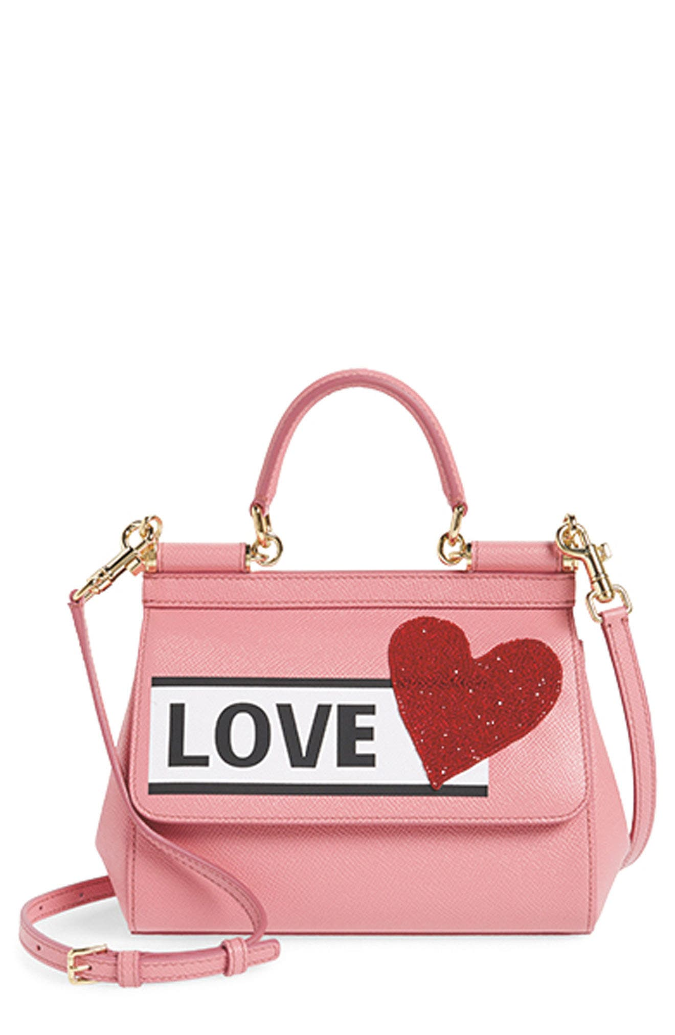 Small Miss Sicily - Love Leather Satchel,                             Alternate thumbnail 8, color,                             670