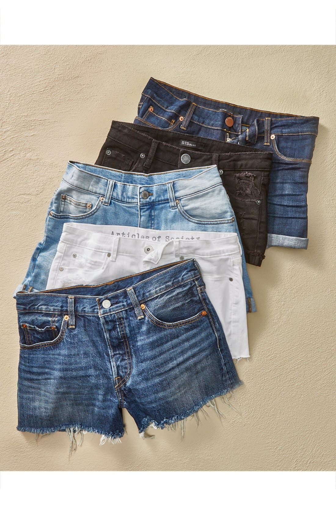'501<sup>®</sup>' Cutoff Denim Shorts,                             Alternate thumbnail 6, color,                             420
