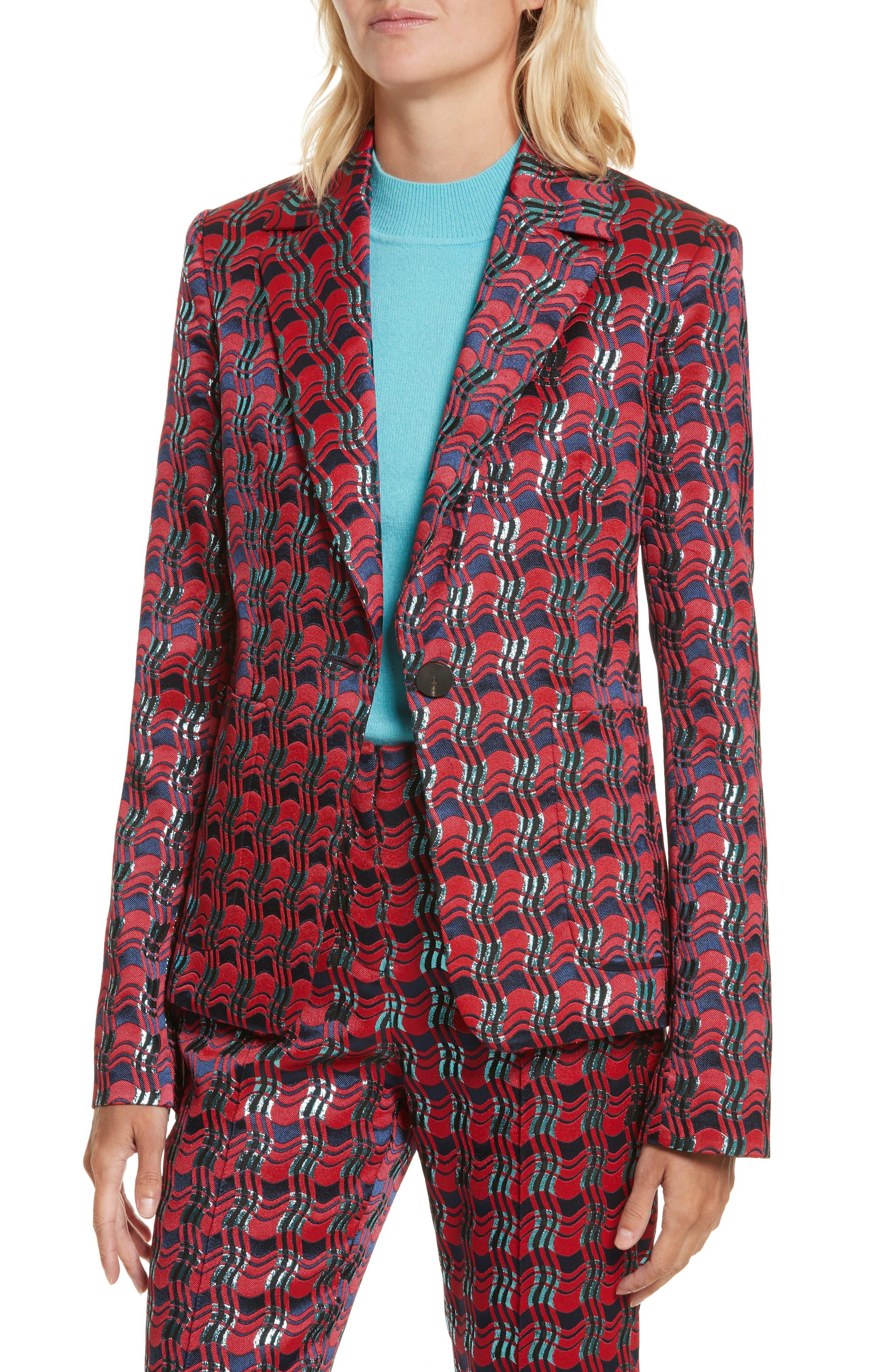 Tailored Jacquard Jacket,                             Alternate thumbnail 4, color,                             601