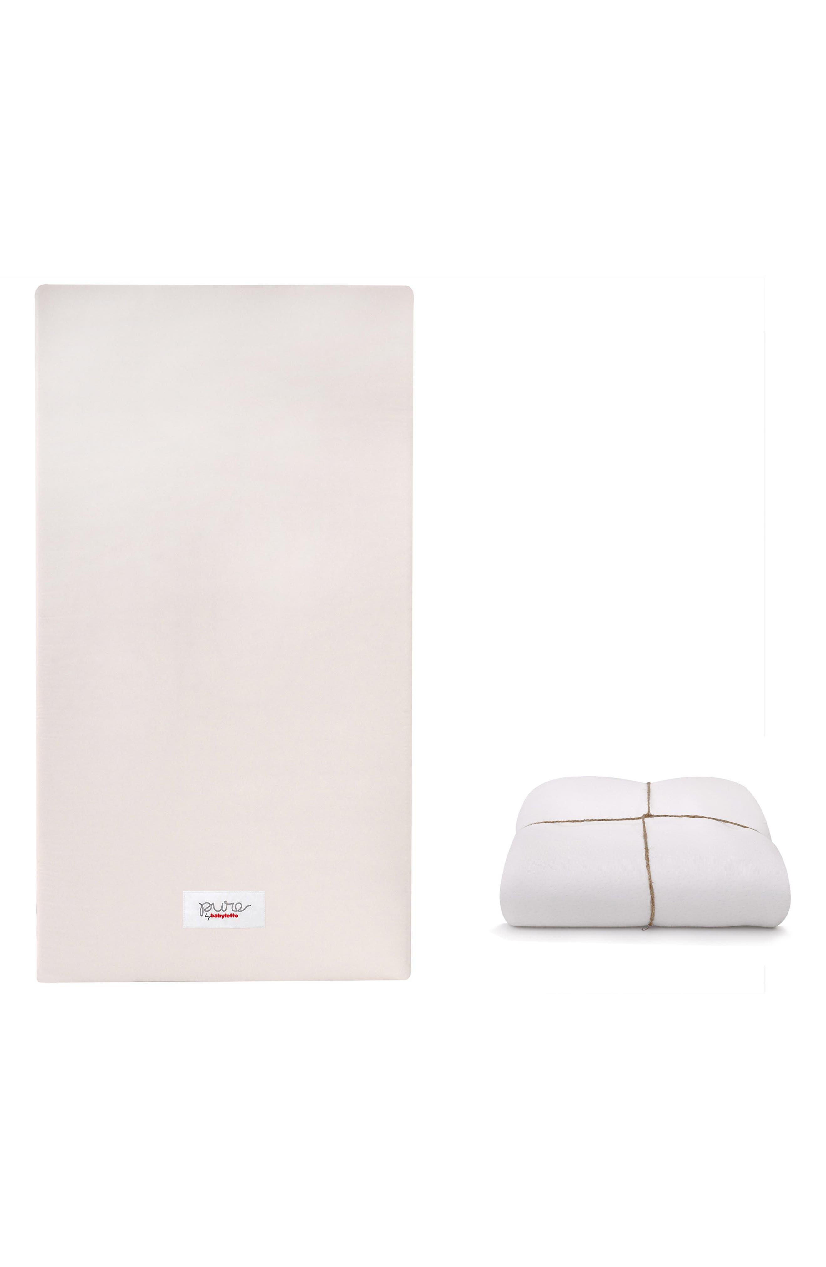 COCO Core Nontoxic Mini Crib Mattress & Water Repellent SMART Cover,                             Alternate thumbnail 3, color,                             100