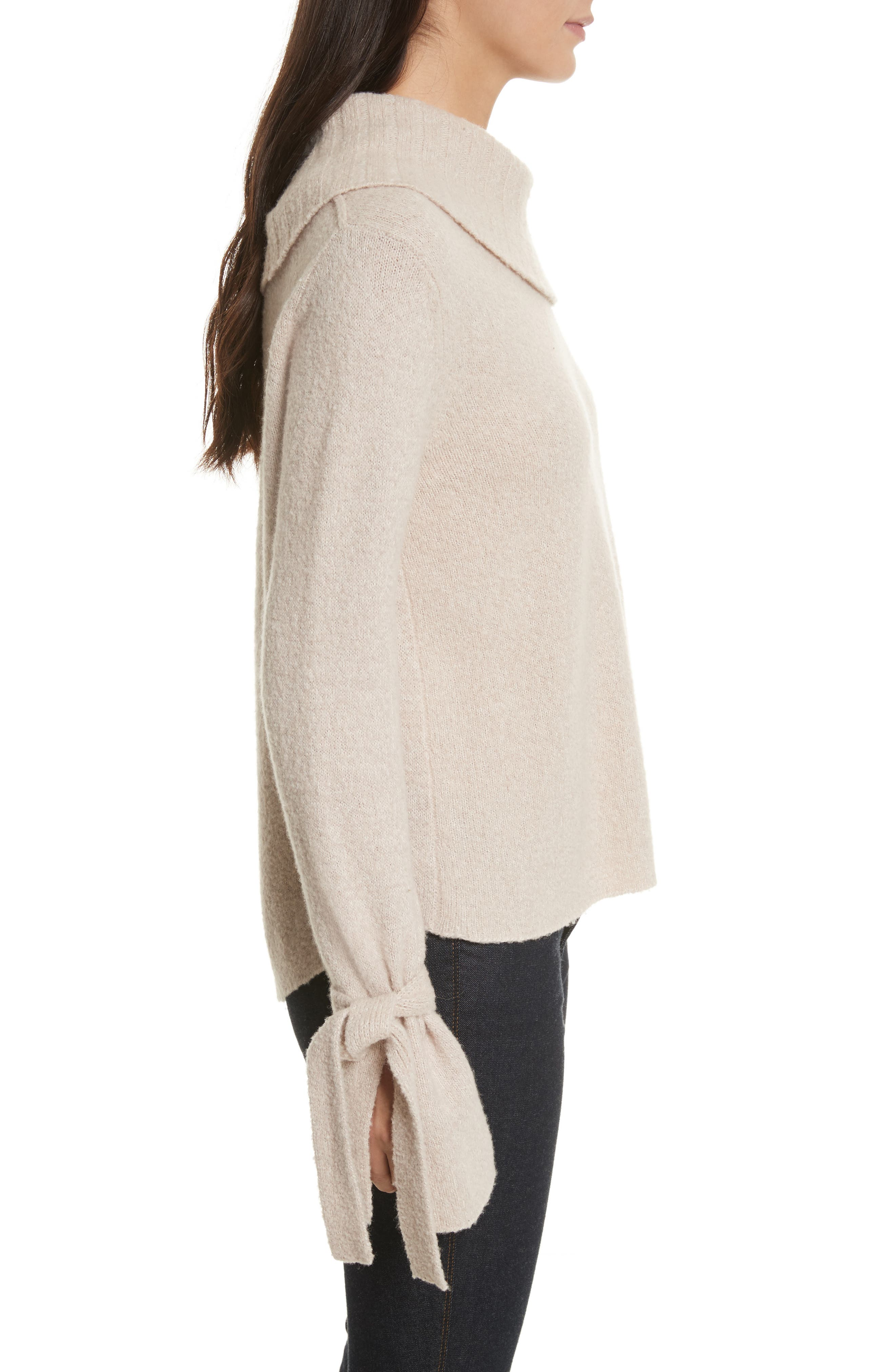 Agna Tie Sleeve Pullover,                             Alternate thumbnail 3, color,