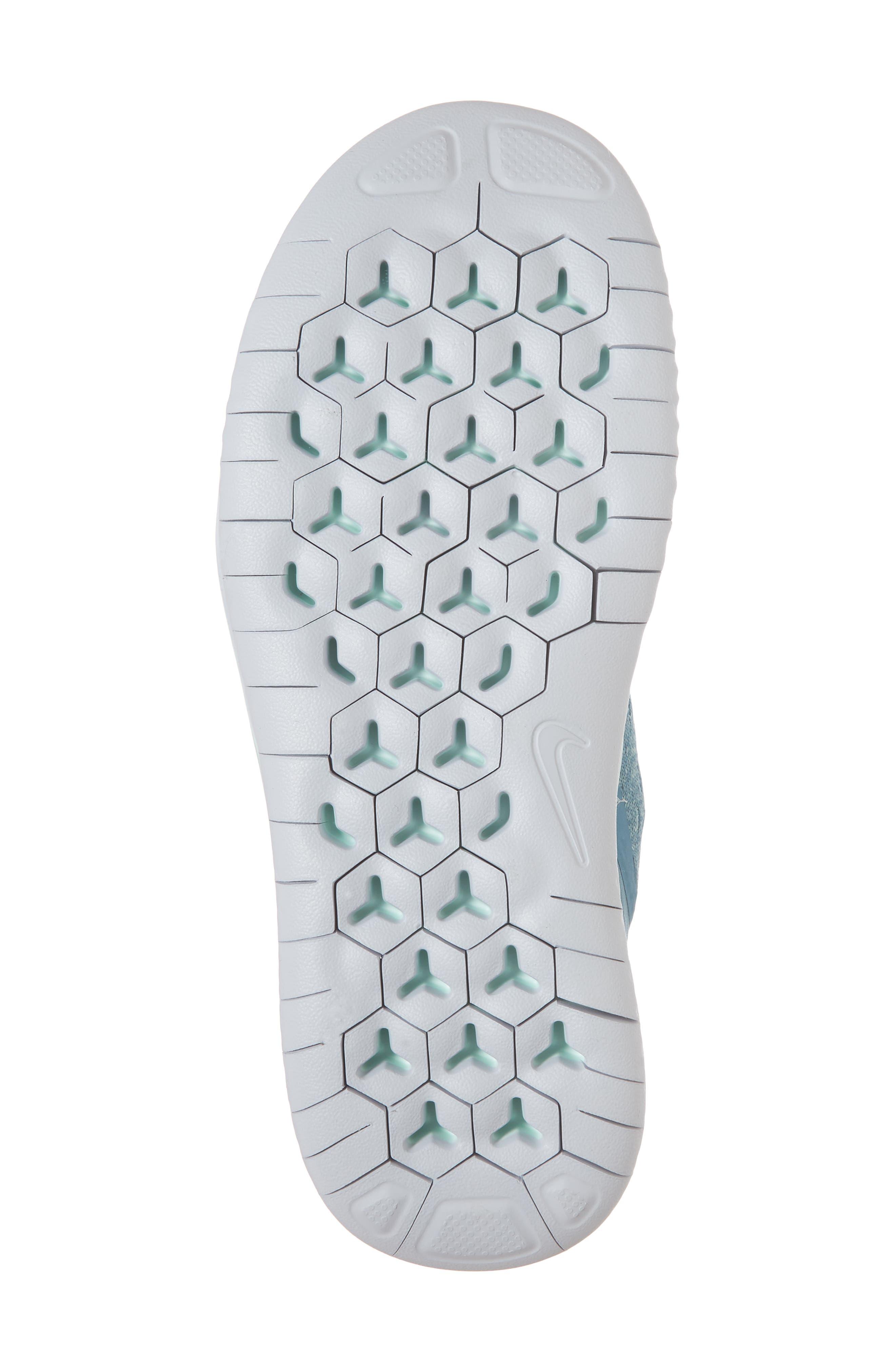 Free RN 2018 Running Shoe,                             Alternate thumbnail 6, color,                             AQUA/ WHITE/ PURE PLATINUM