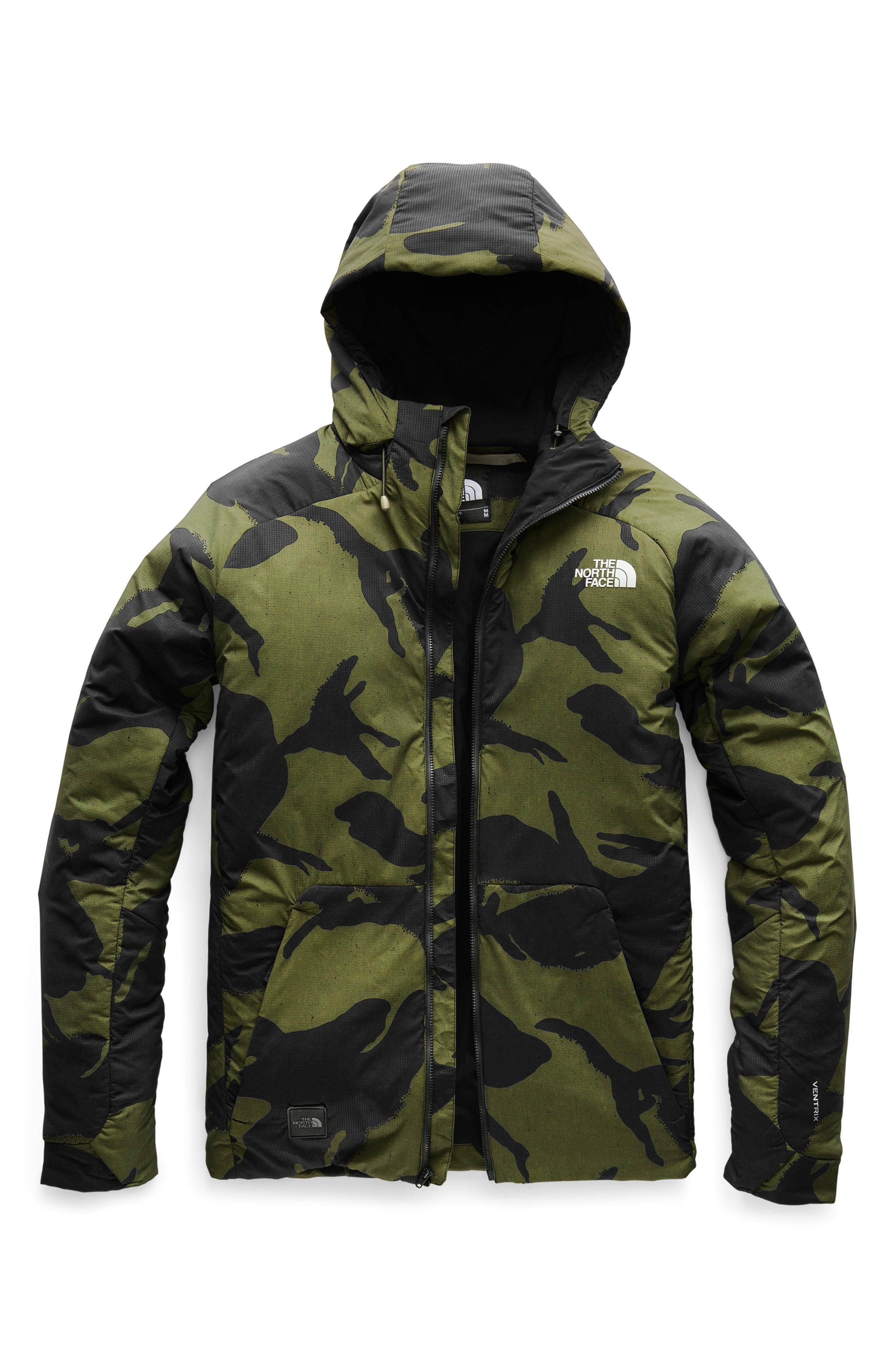 Lodgefather Ventrix<sup>™</sup> Ski Jacket,                             Alternate thumbnail 3, color,                             BURNT OLIVE GREEN DISRUPT