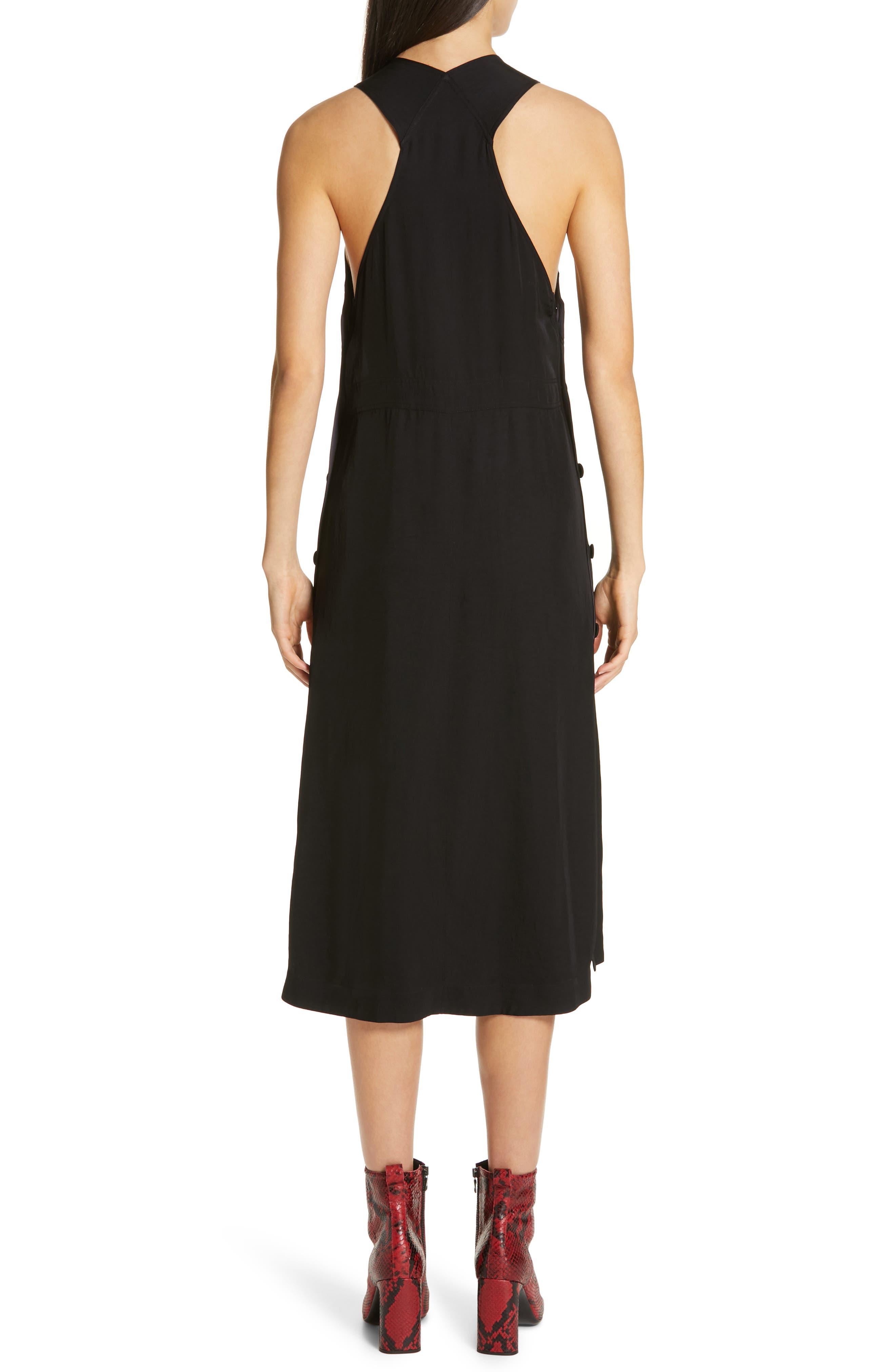 Adrian Pinafore Dress,                             Alternate thumbnail 2, color,                             BLACK