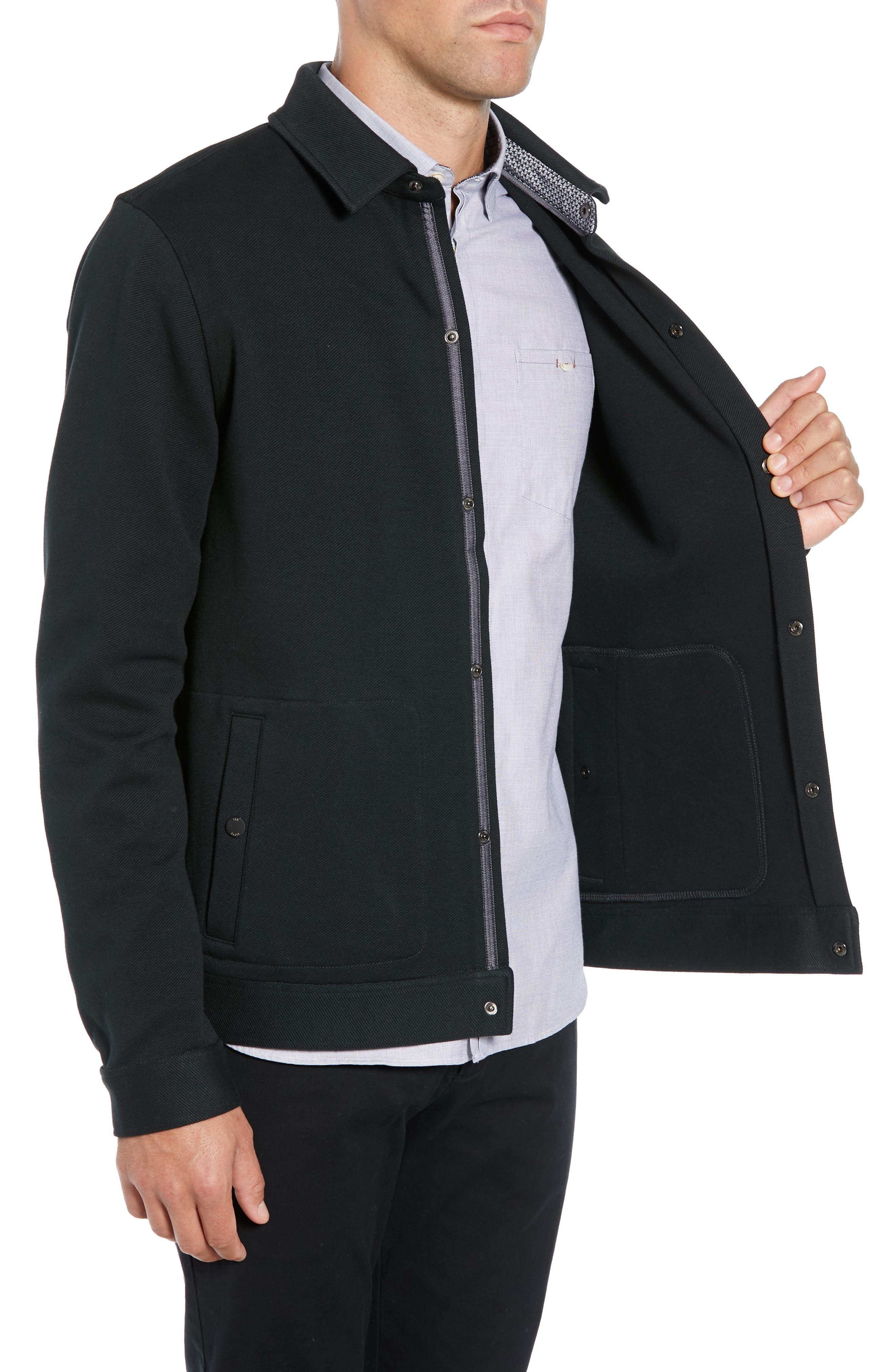 Danett Tall Twill Jacket,                             Alternate thumbnail 3, color,                             BLACK