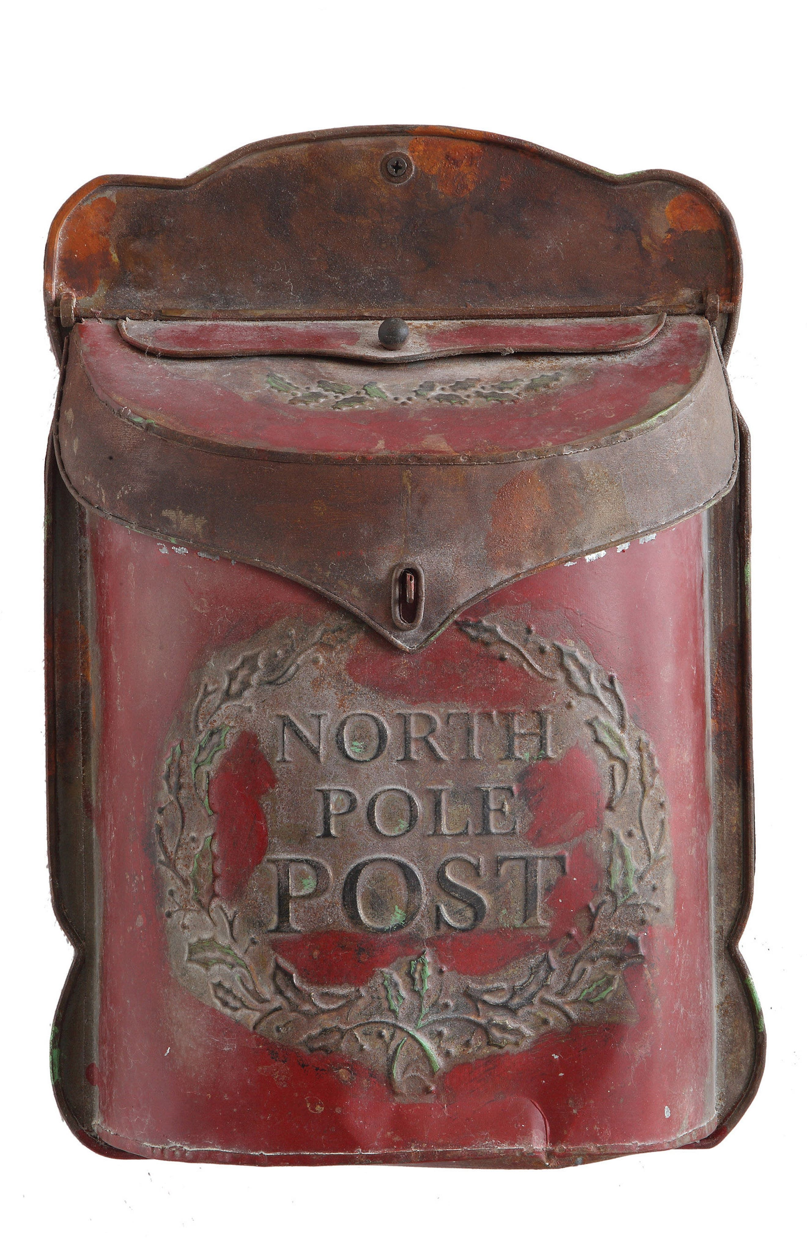 North Pole Post Box,                         Main,                         color, RED