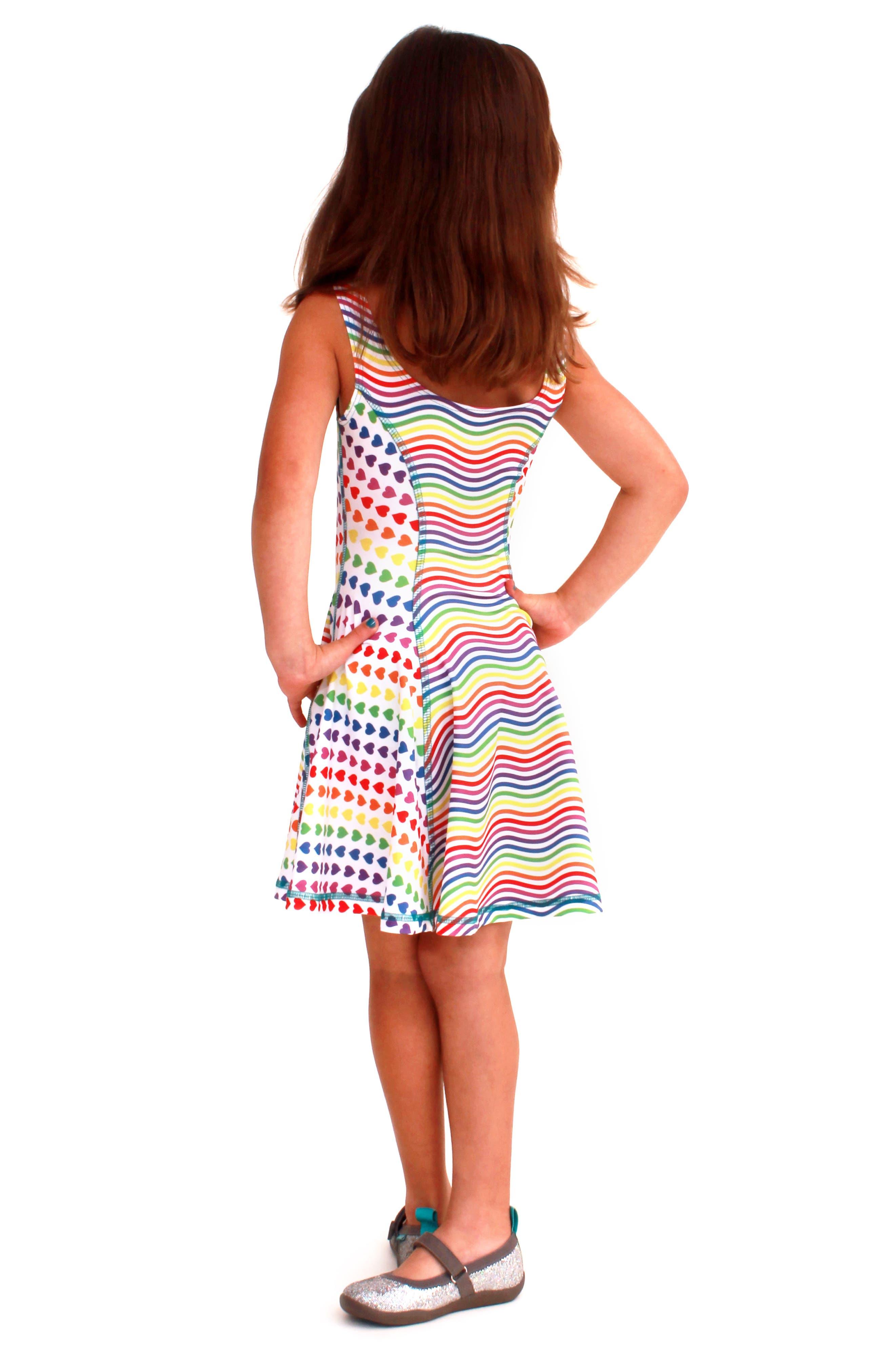 Flow Mixed Print Dress,                             Alternate thumbnail 25, color,