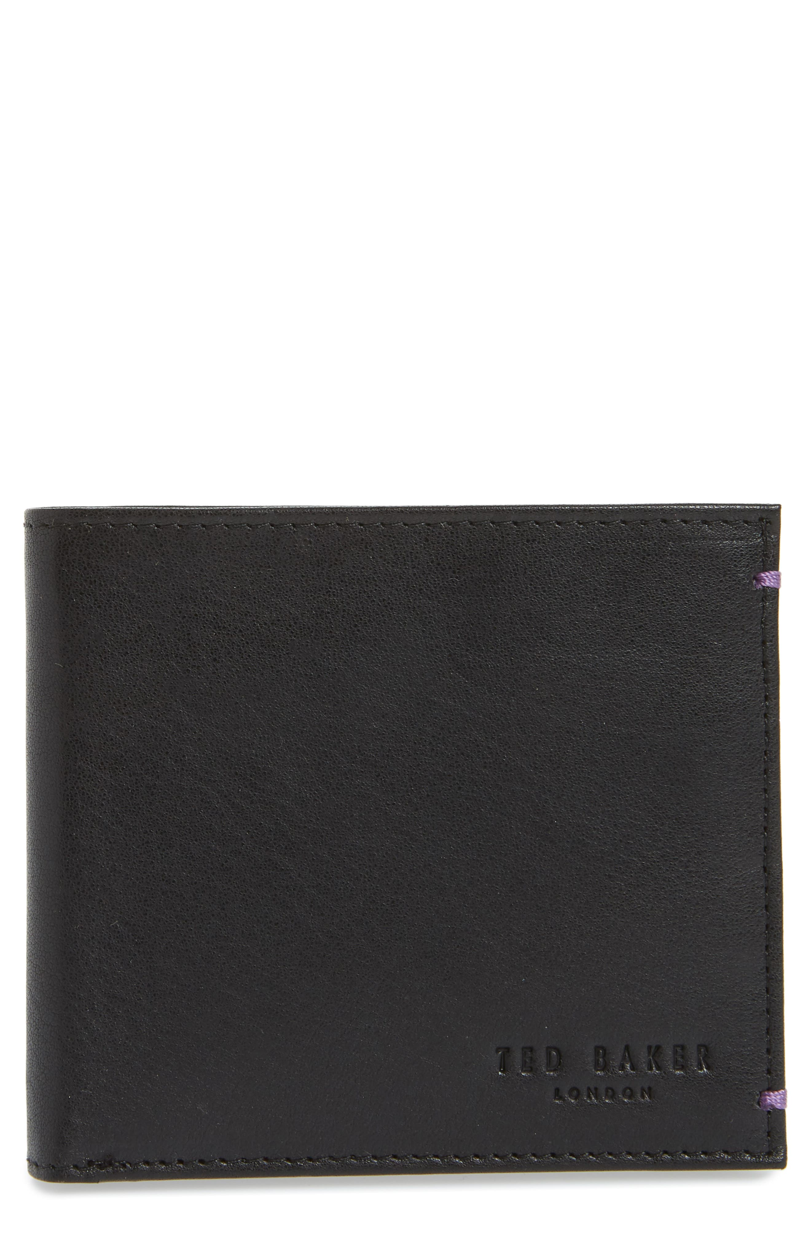 Rester Leather Bifold Wallet,                             Main thumbnail 1, color,                             001