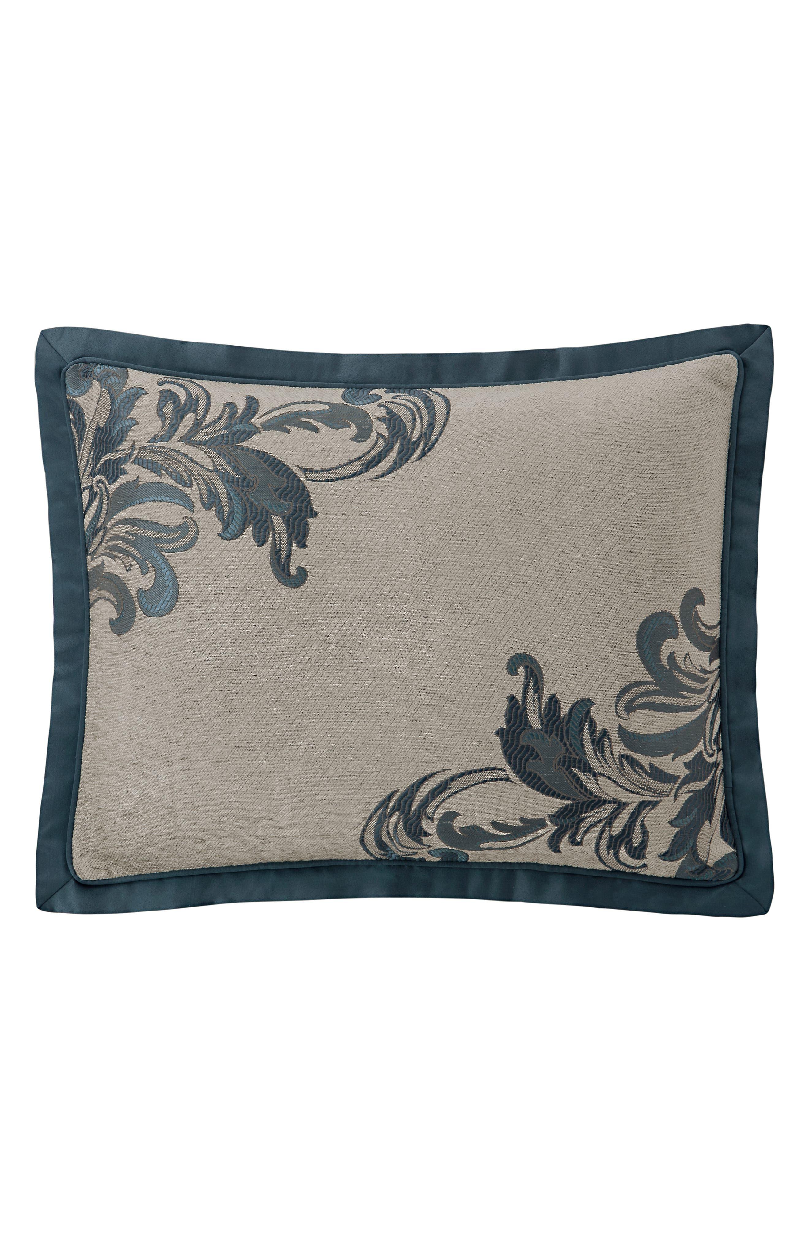 Everett Reversible Comforter, Sham & Bed Skirt Set,                             Alternate thumbnail 3, color,                             TEAL
