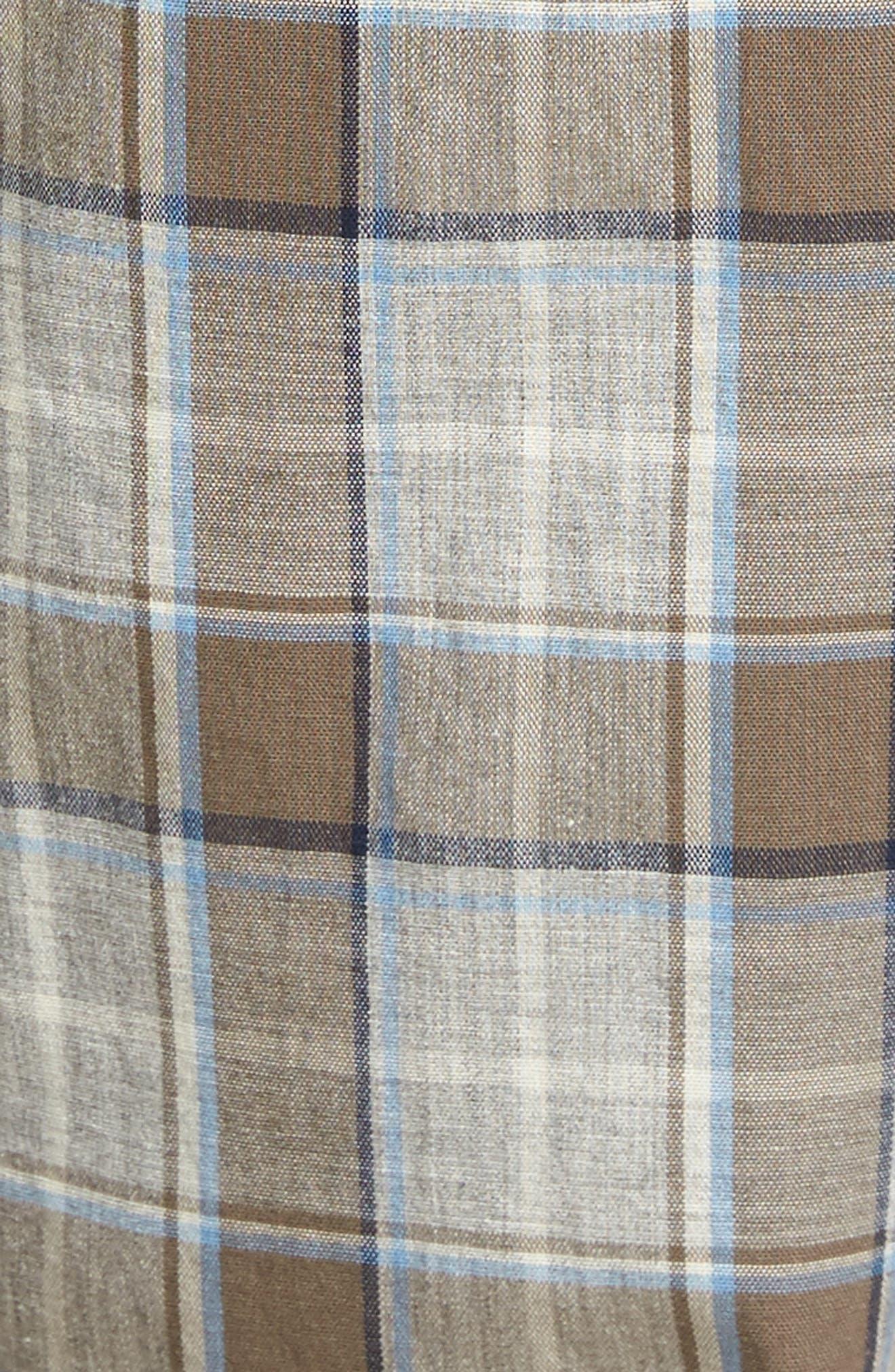 Flynn Plaid Cotton Lounge Pants,                             Alternate thumbnail 9, color,