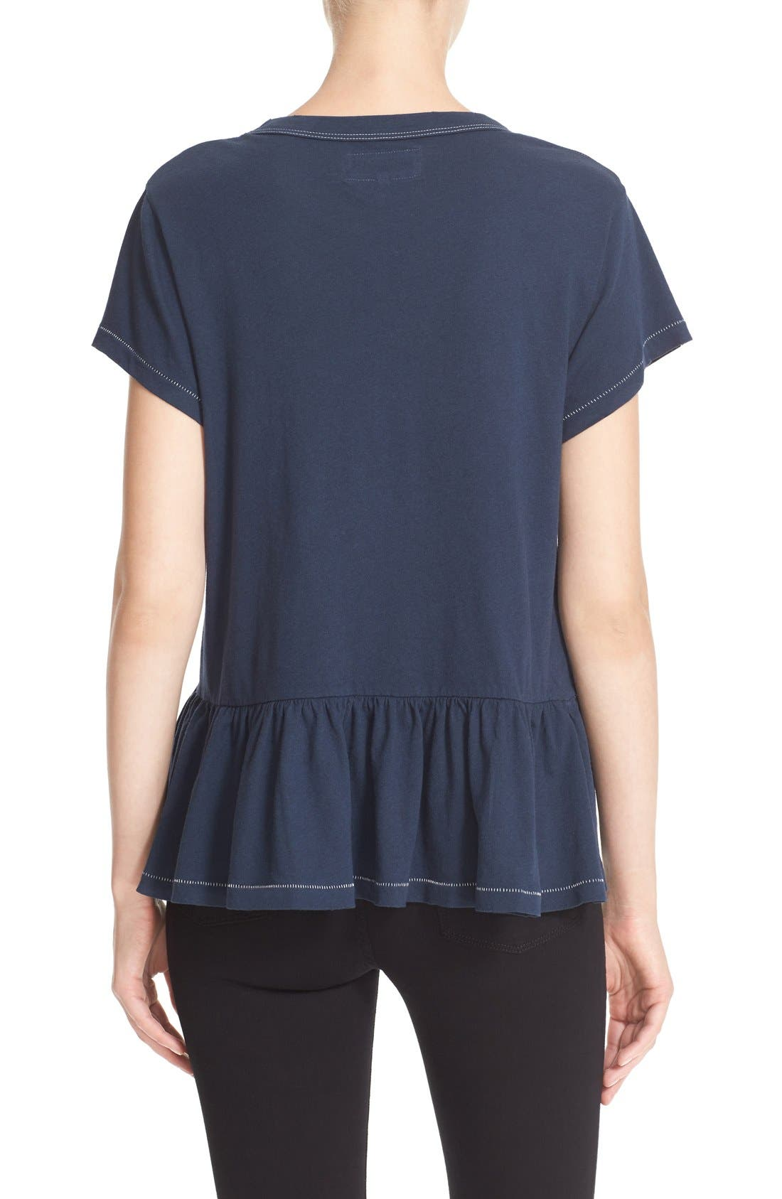 The Ruffle Tee,                             Alternate thumbnail 76, color,