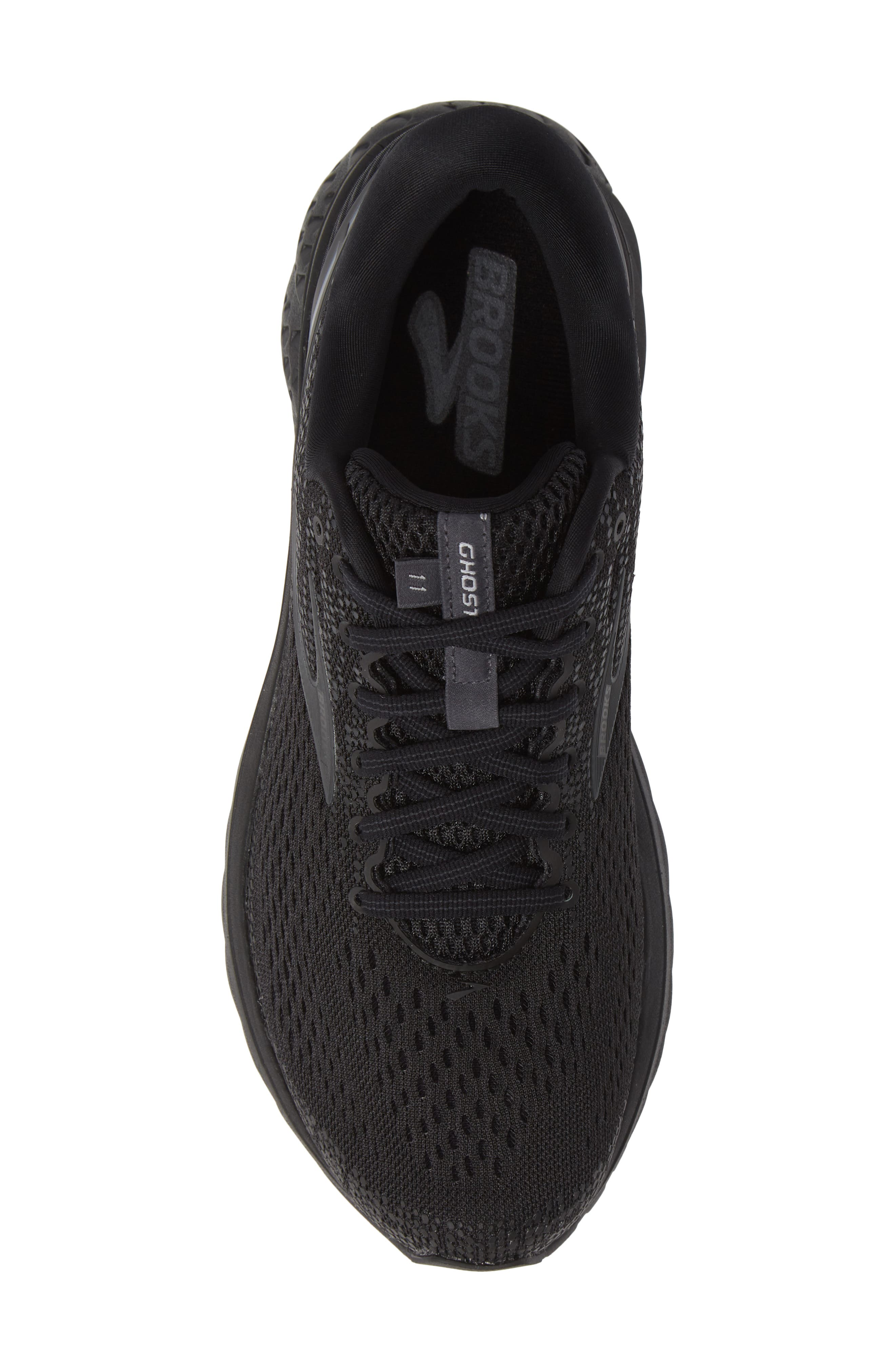 Ghost 11 Running Shoe,                             Alternate thumbnail 5, color,                             BLACK/ EBONY