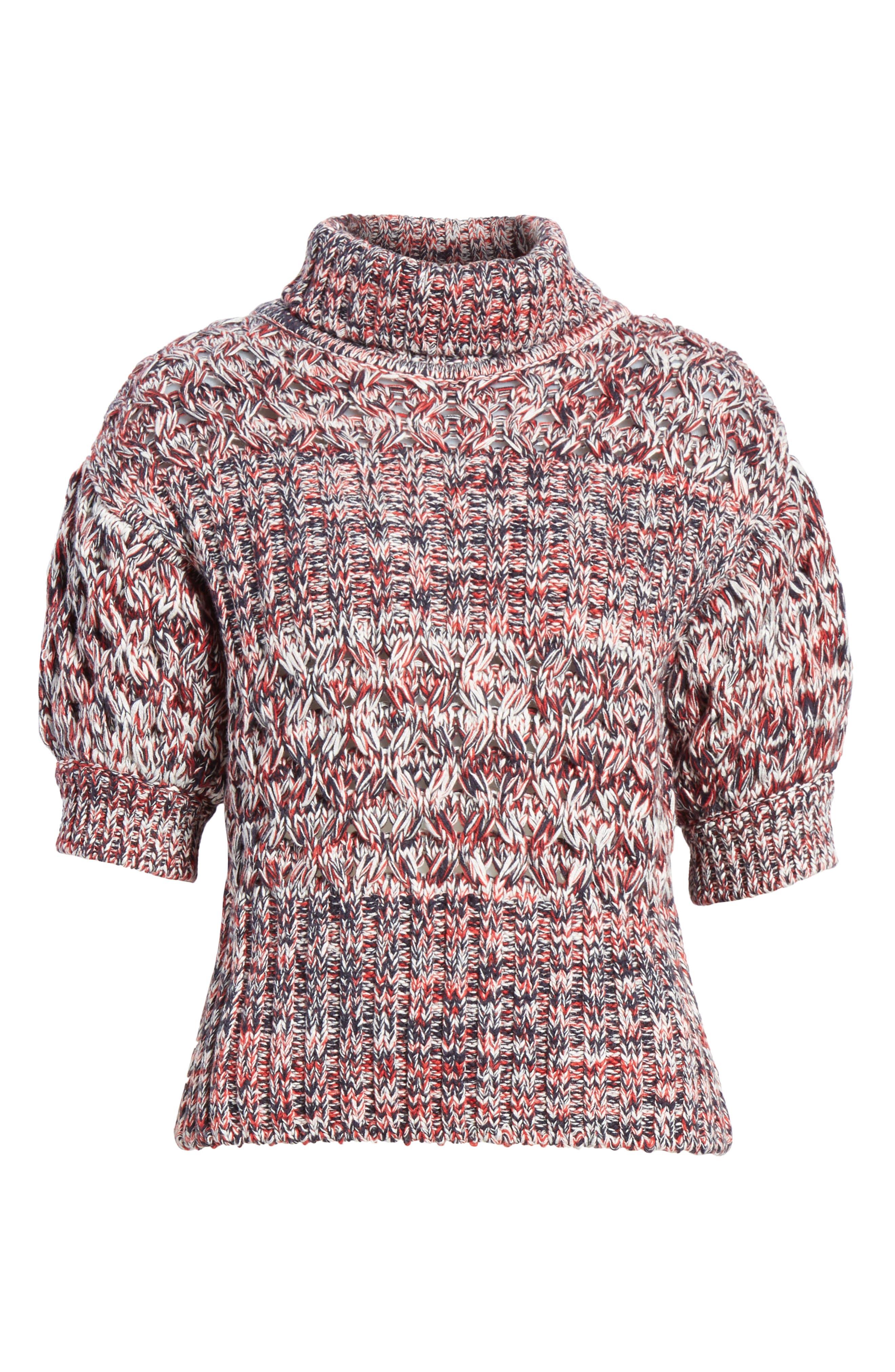 Mélange Cotton & Wool Sweater,                             Alternate thumbnail 6, color,                             600