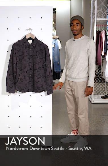 Camouflage Slim Cotton Jacquard Shirt Jacket, sales video thumbnail