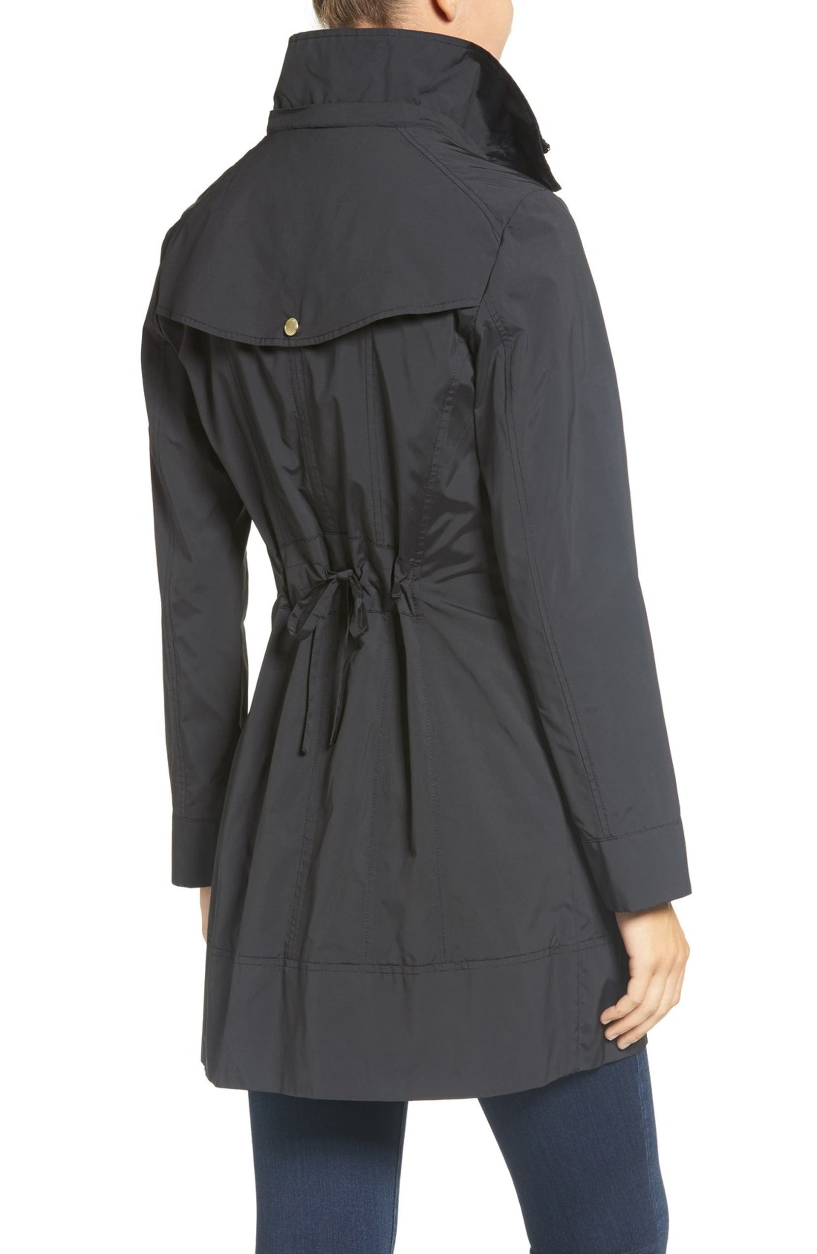 fe1fbdd44c6c Cole Haan Signature Back Bow Packable Hooded Raincoat (Regular ...