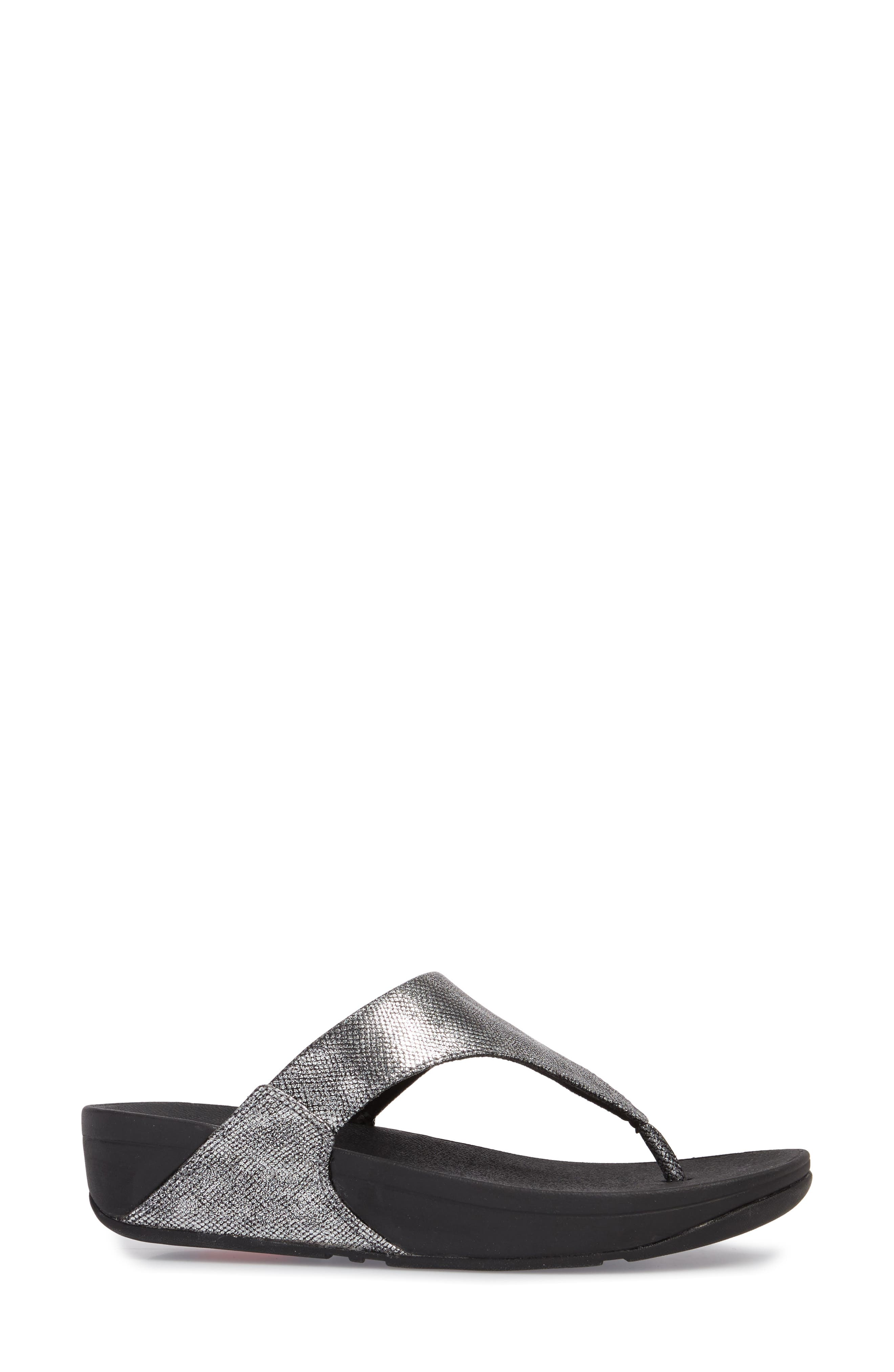 FITFLOP,                             Lulu Thong Sandal,                             Alternate thumbnail 3, color,                             004
