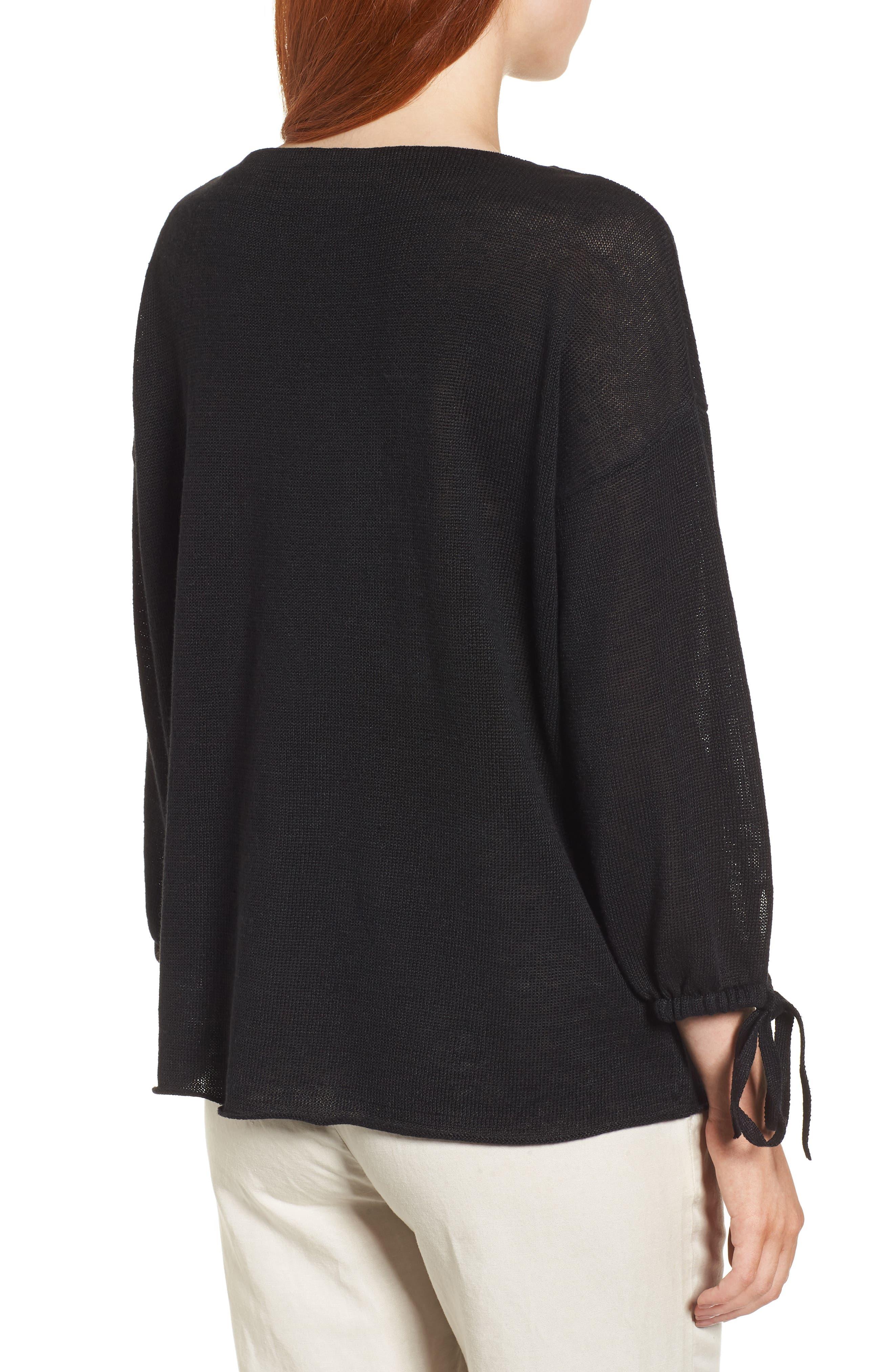 Organic Linen Sweater,                             Alternate thumbnail 5, color,