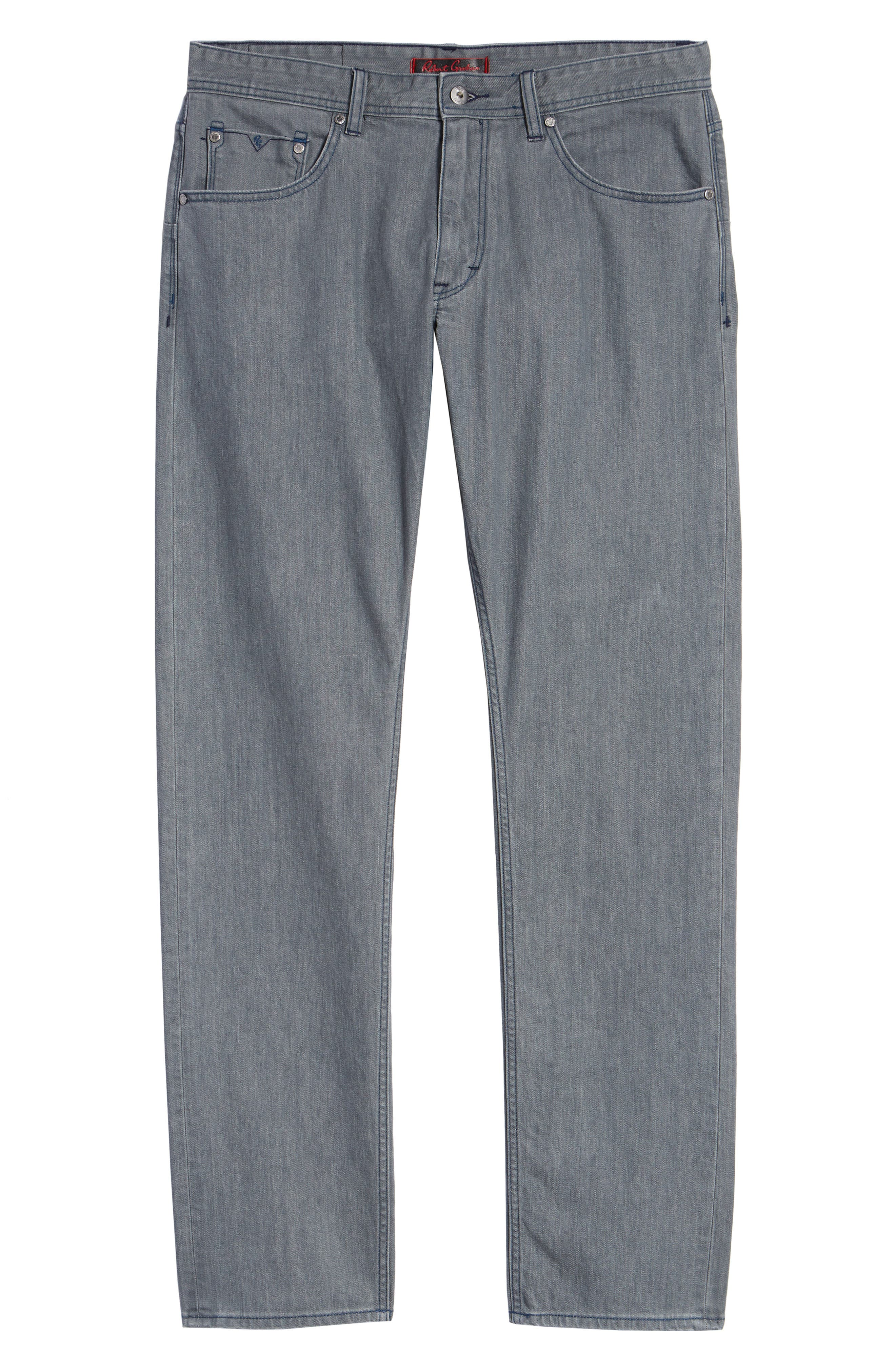 Bray Tailored Straight Leg Jeans,                             Alternate thumbnail 6, color,                             GREY
