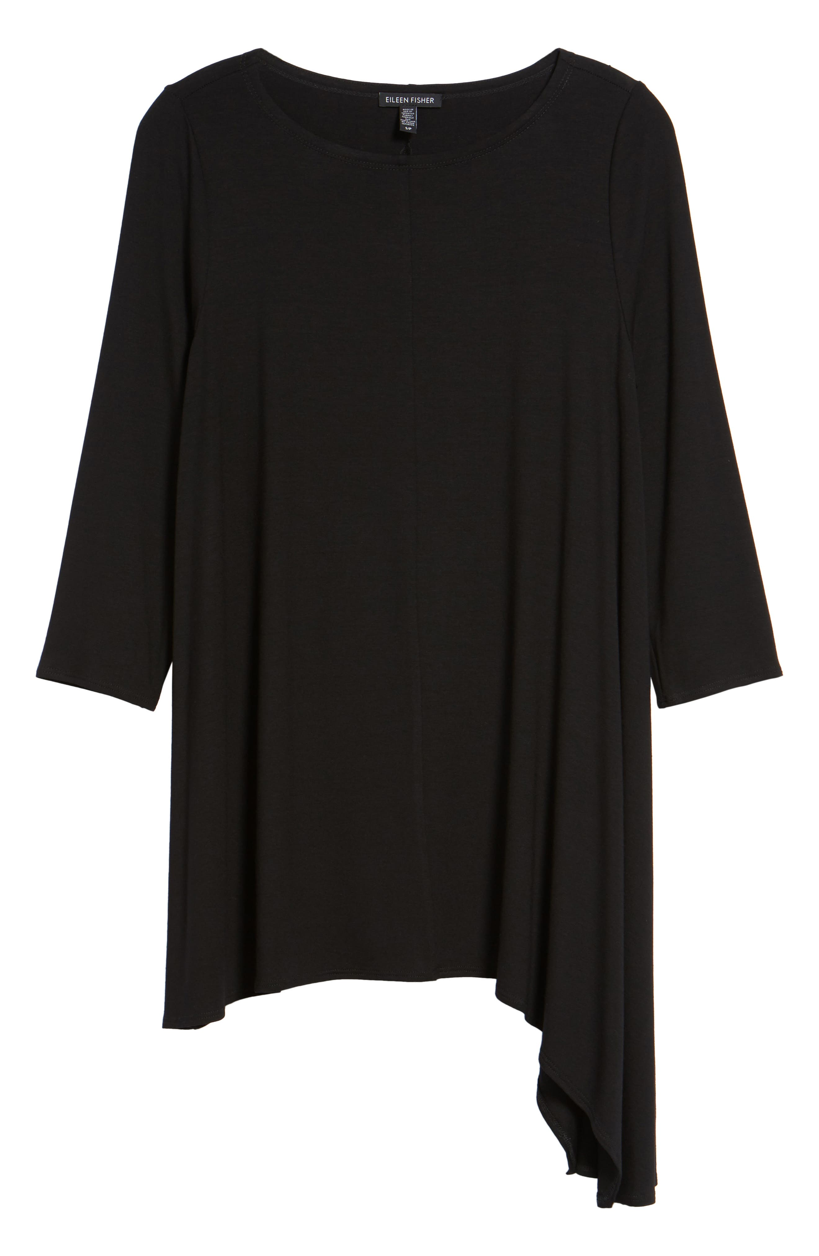 Asymmetrical Jersey Top,                             Alternate thumbnail 6, color,                             001