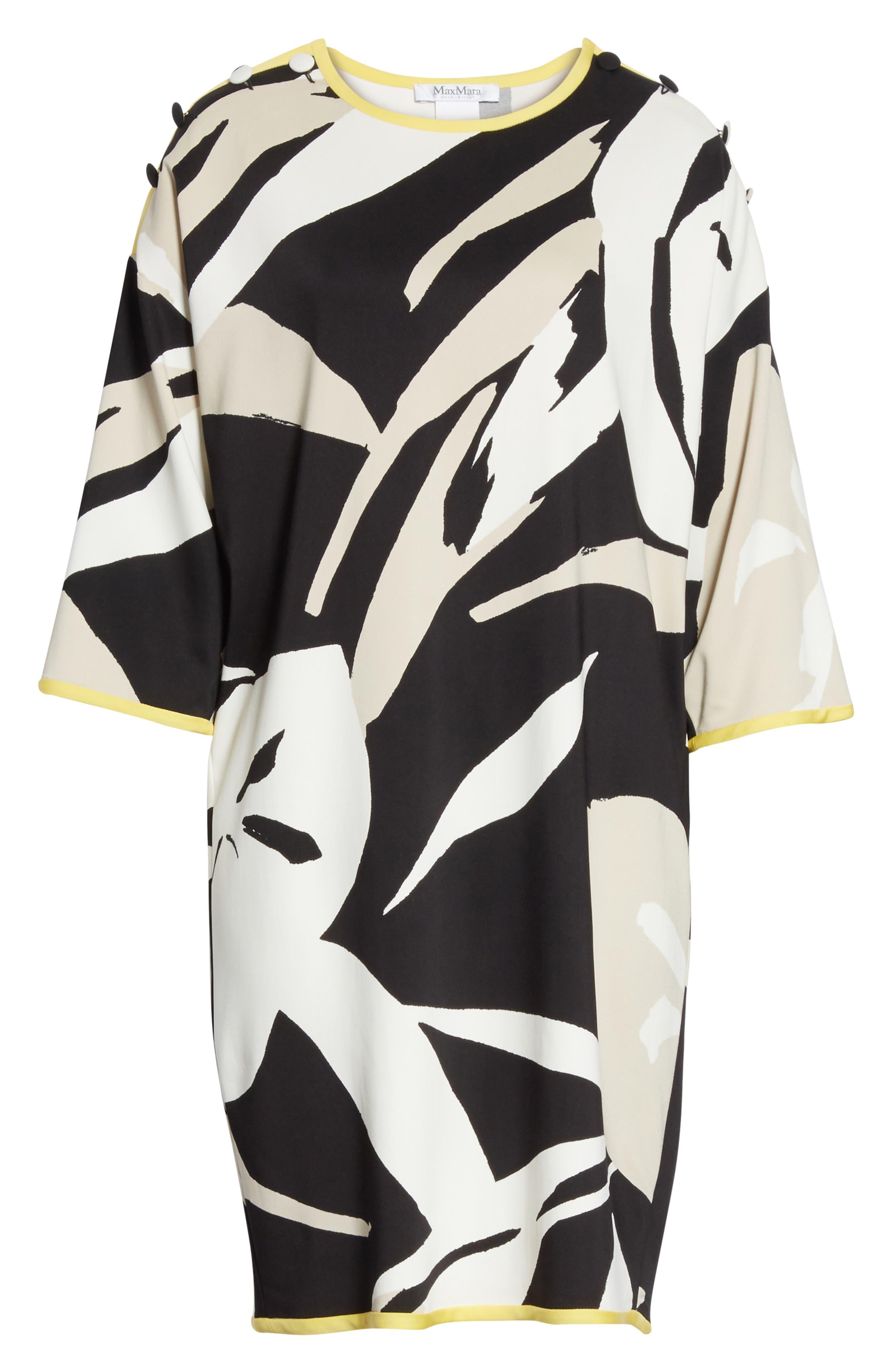 Leva Print Shift Dress,                             Alternate thumbnail 6, color,
