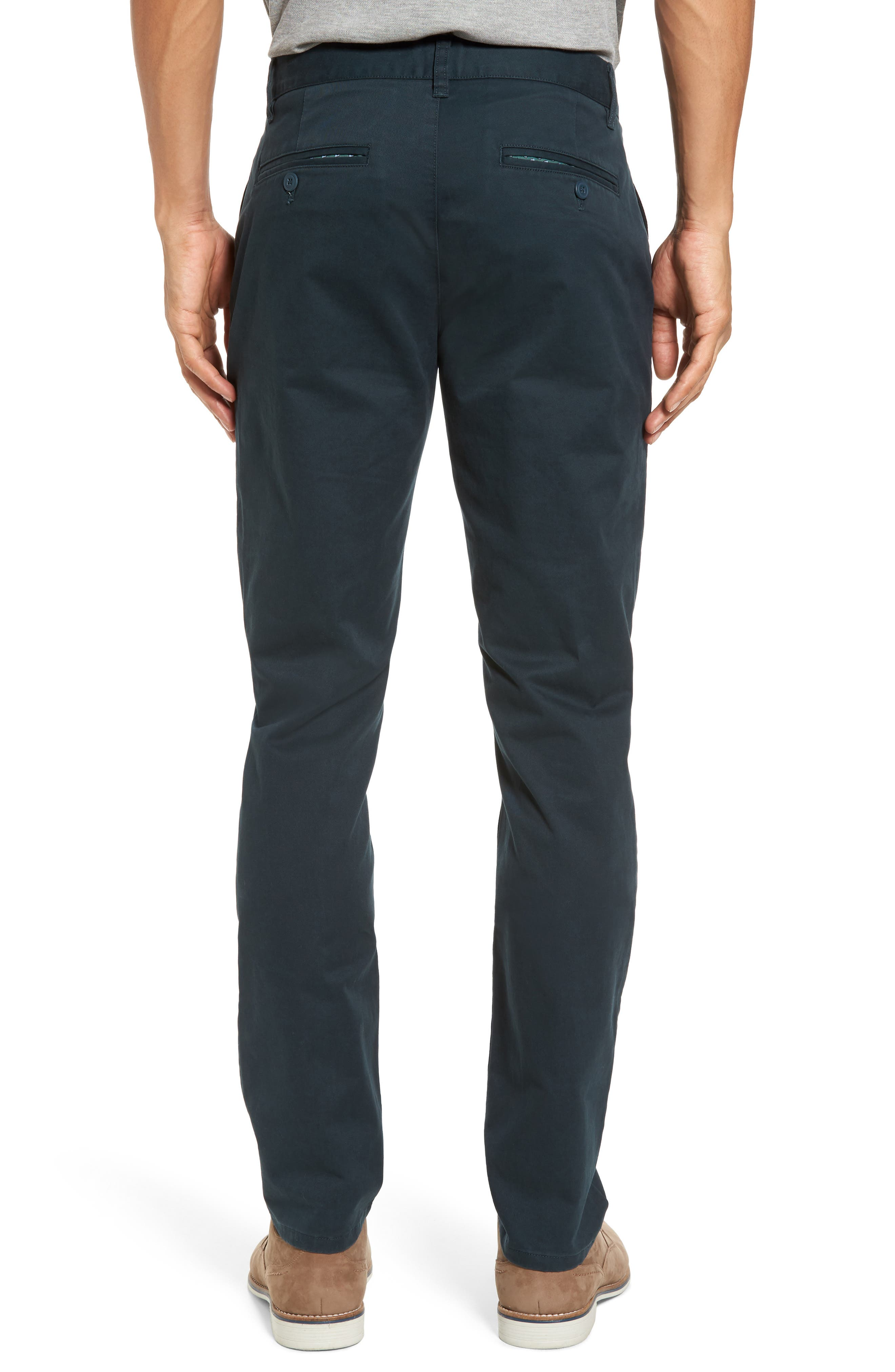 Tailored Fit Washed Stretch Cotton Chinos,                             Alternate thumbnail 52, color,