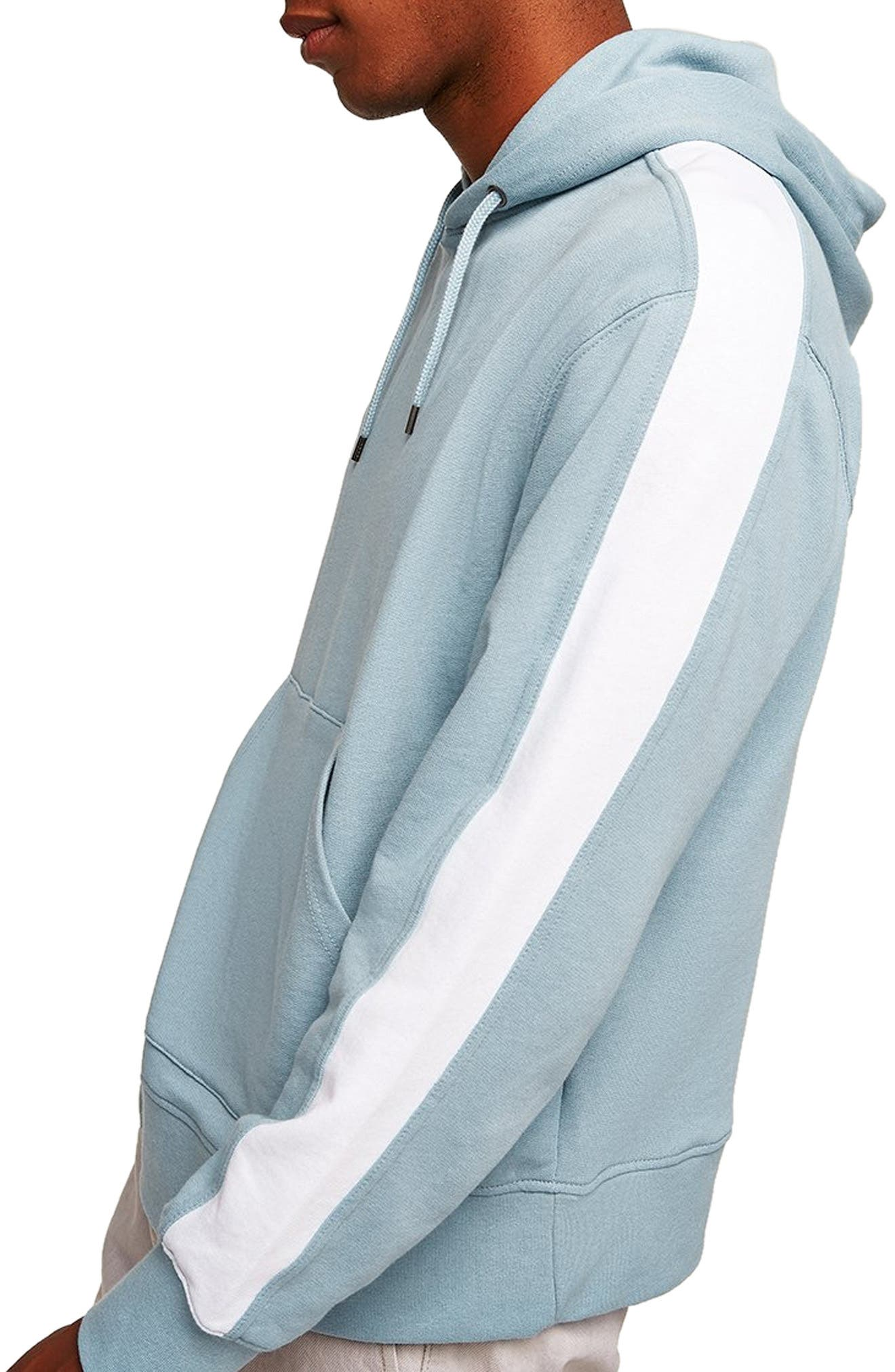 Colorblock Hooded Sweatshirt,                             Alternate thumbnail 3, color,                             400
