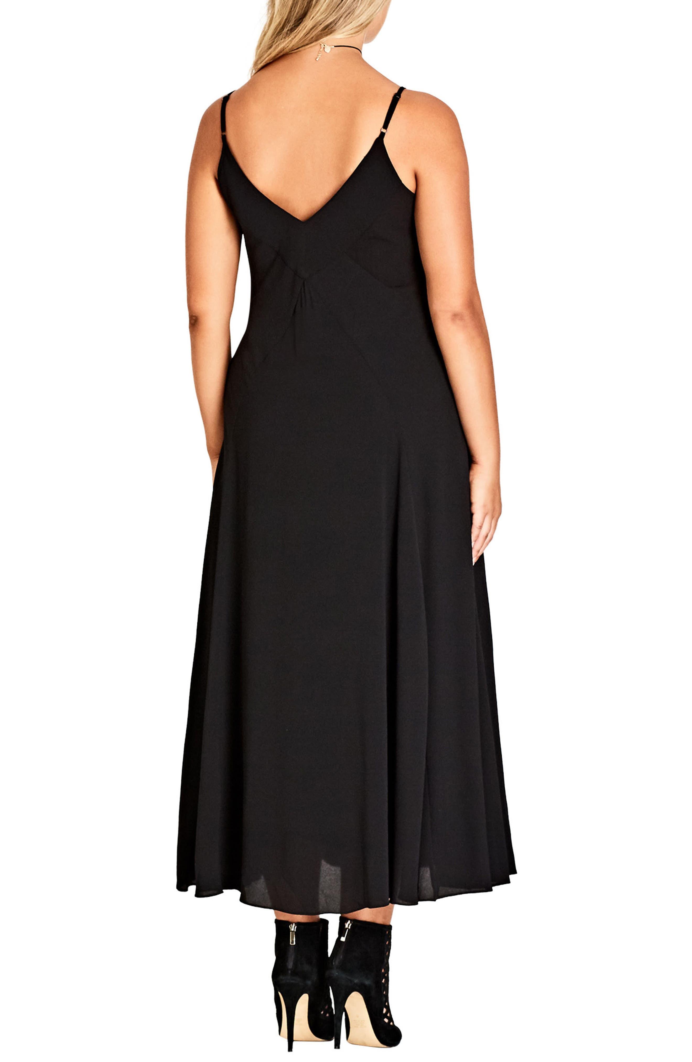 Boho Chic Maxi Dress,                             Alternate thumbnail 2, color,                             BLACK