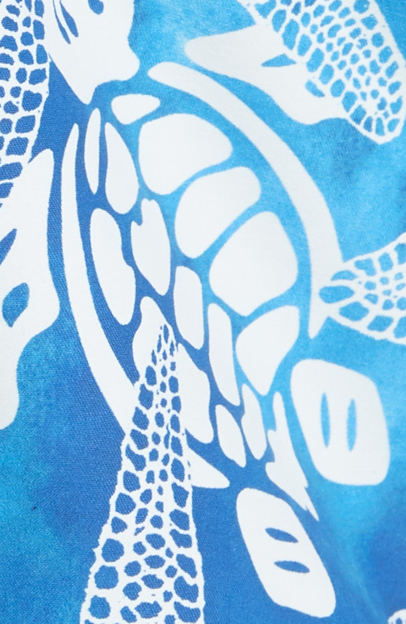 Starfish & Turtles Swim Trunks,                             Alternate thumbnail 5, color,                             NEPTUNE