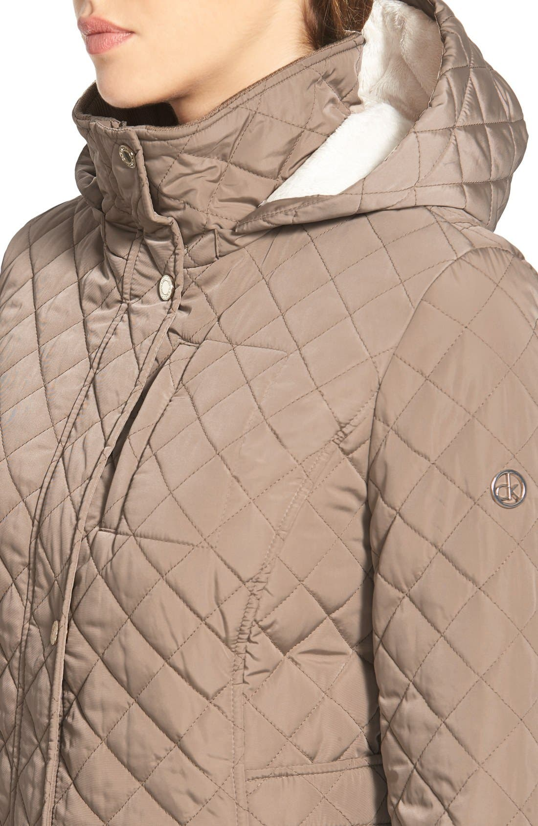 Hooded Quilted Jacket,                             Alternate thumbnail 39, color,