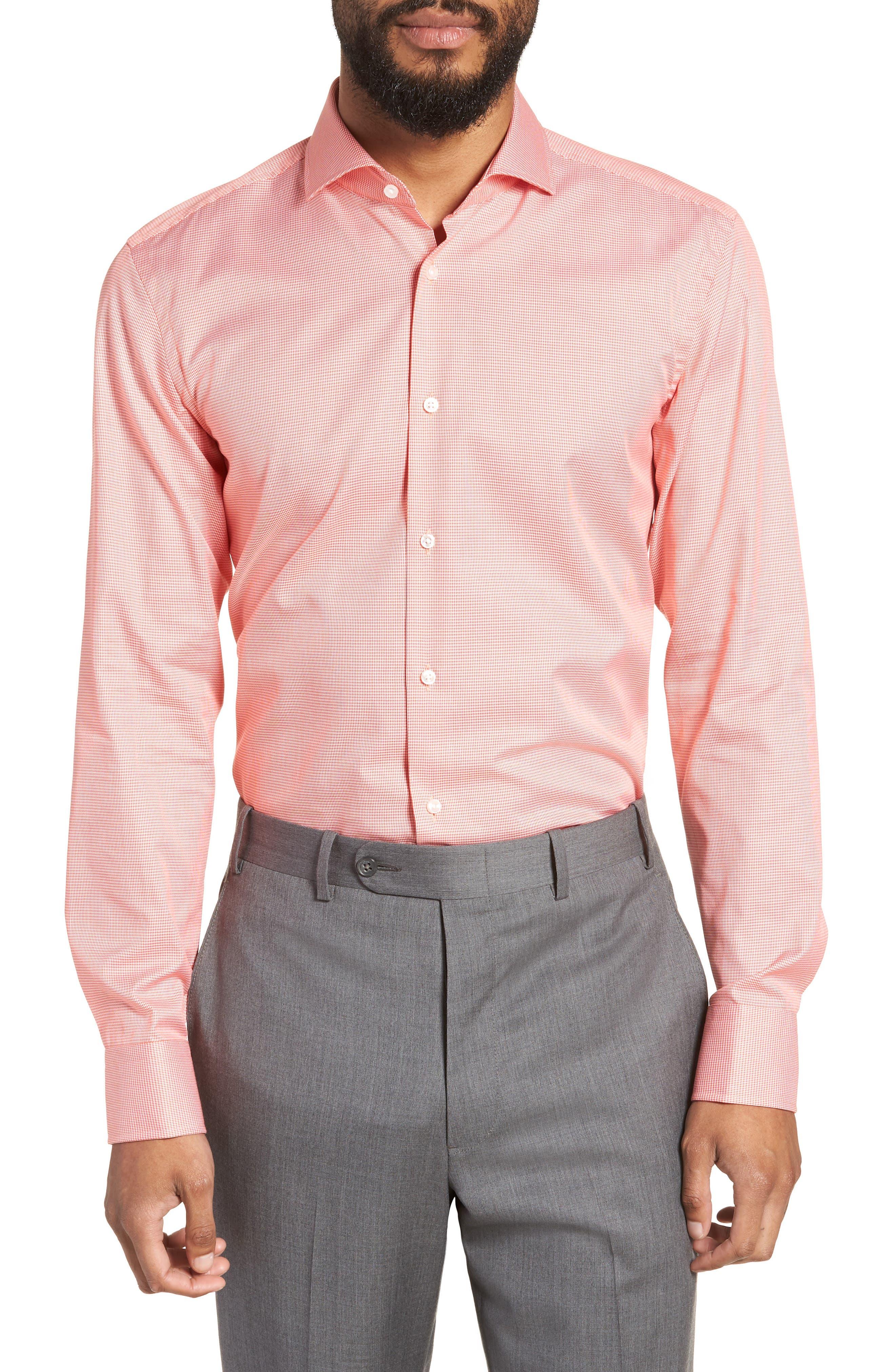 Jason Slim Fit Houndstooth Dress Shirt,                         Main,                         color, 813