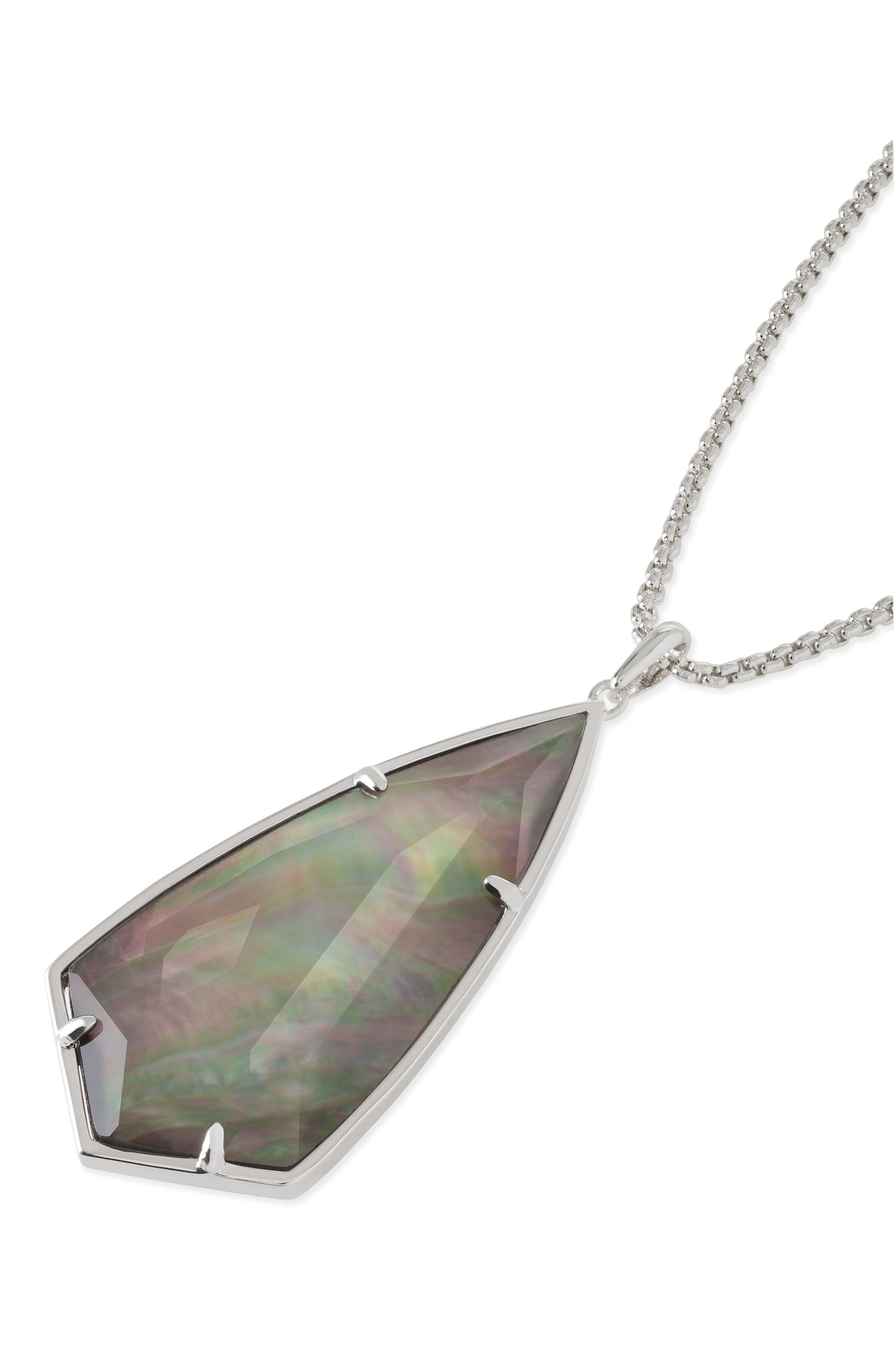 'Carole' Long Semiprecious Stone Pendant Necklace,                             Alternate thumbnail 33, color,